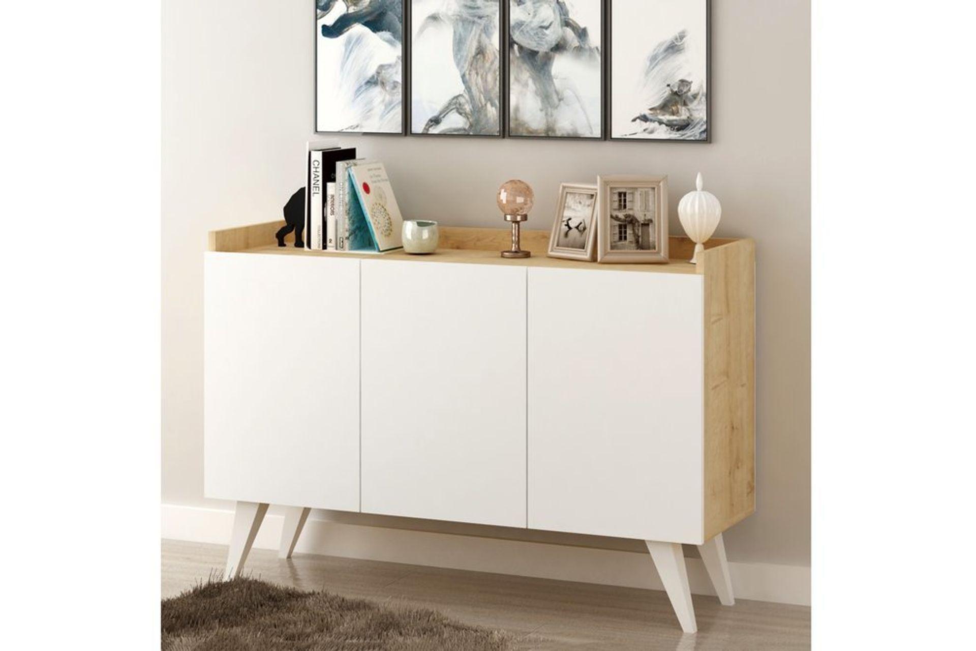 Ariane Sideboard, White & Oak