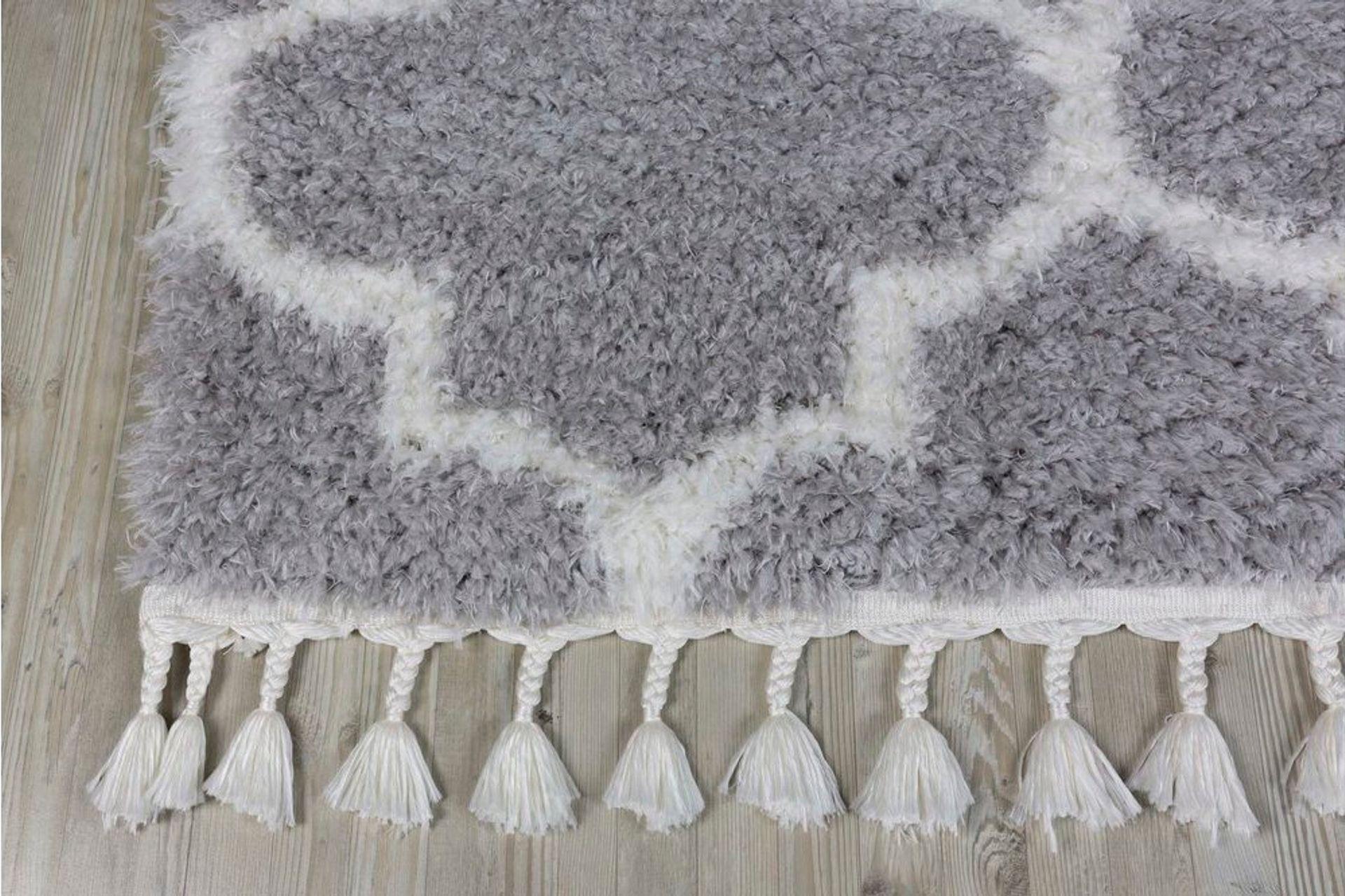Marrakesh Scandi Rug, Grey (Large)