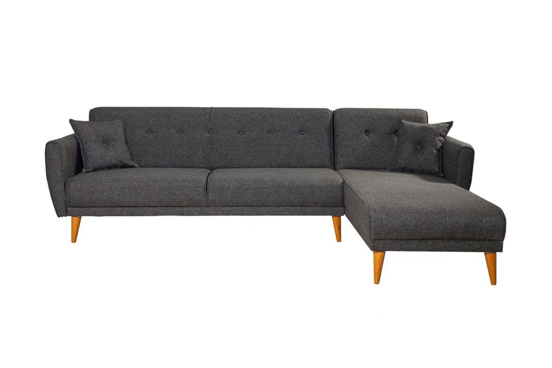 Aria Corner Chaise Sofa Bed, Right, Charcoal