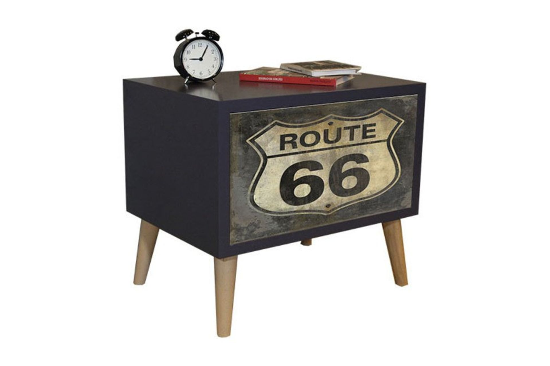 Route Bedside Table, Grey