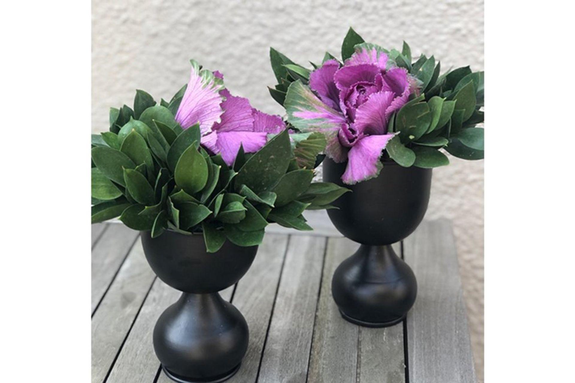 Moena Metal Vase, Black (Large)