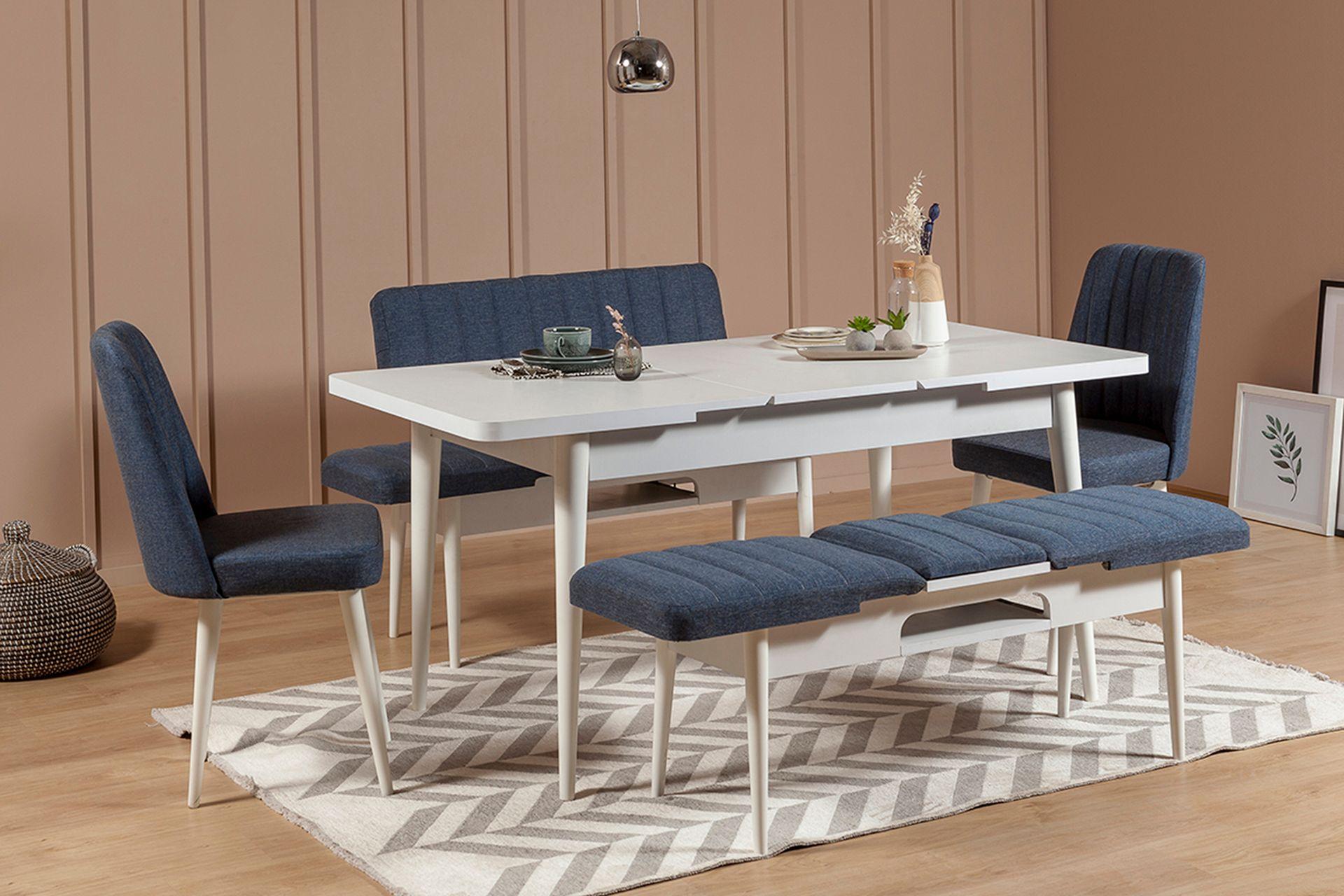 Vina Extending Dining Table, White