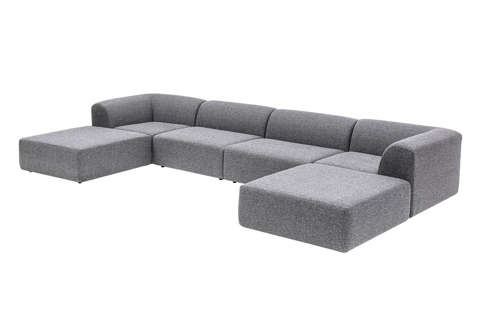 Alpha Modular Sofa (Large), Light Grey
