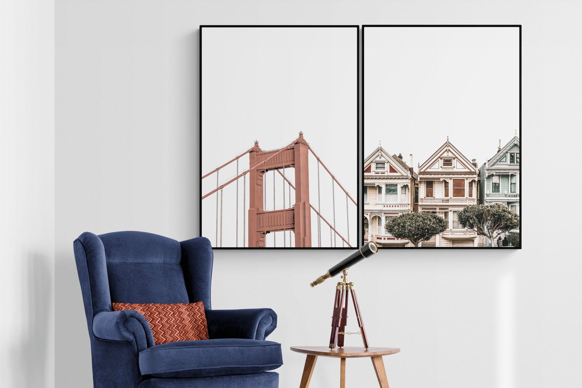SAN FRANCISCO HOME SİYAH ÇERÇEVE TABLO 33x48
