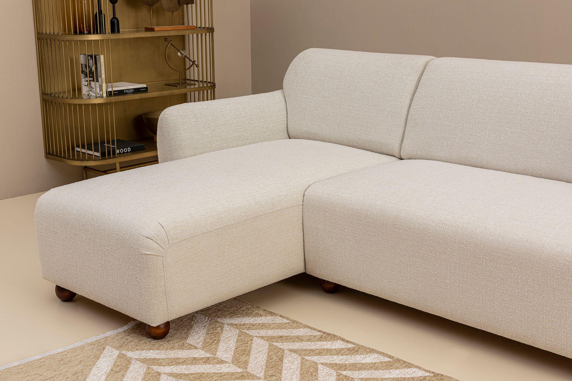 Eddy Corner Chaise Sofa, Left, Ecru