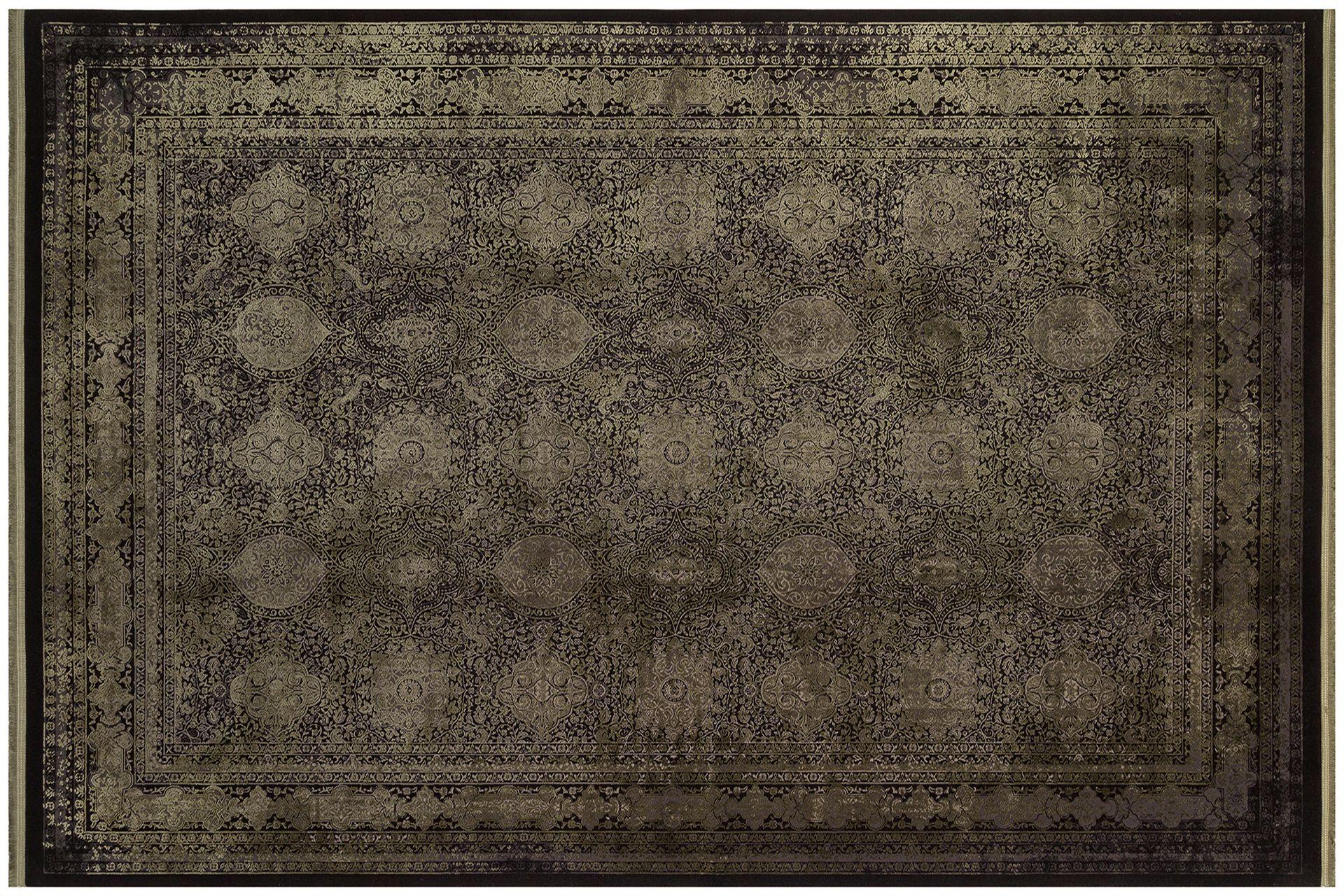 ANADOLU AD 02 ANTRASİT YEŞİL KLASİK DESENLİ SALON HALISI 100x200