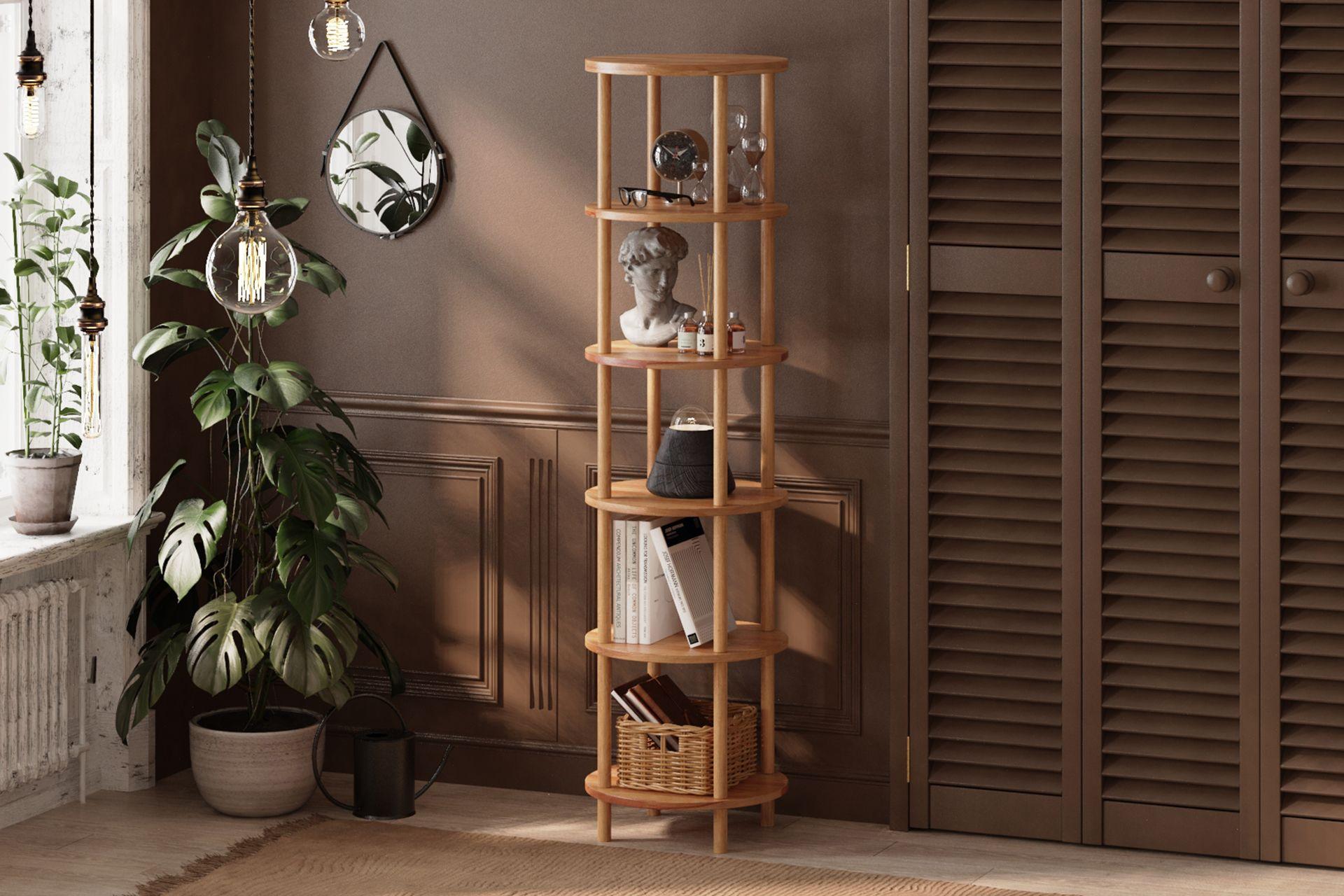 Maya Round Bookcase, (6 Shelf)