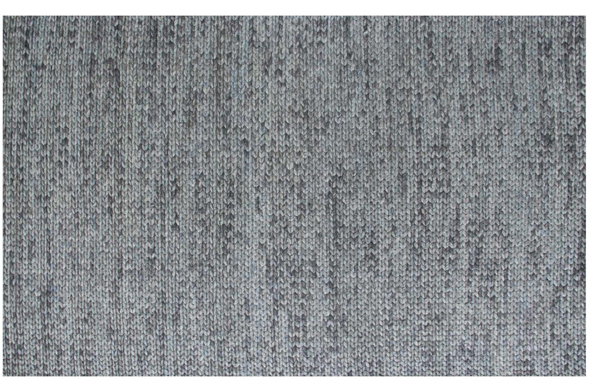 BADE GRİ SİYAH YÜN EL DOKUMA ÖRGÜ HALI 170x240