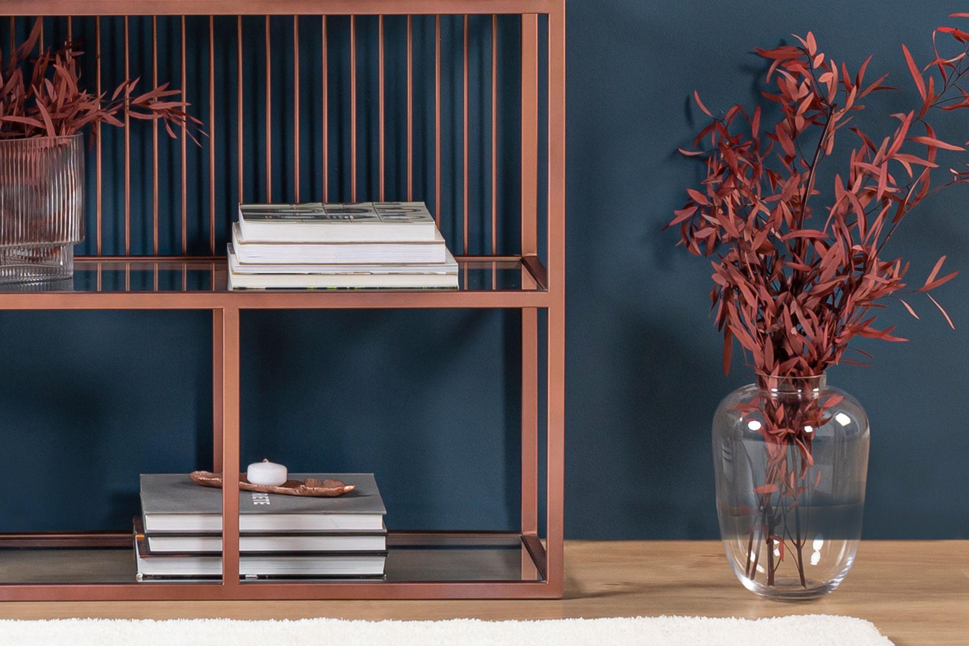 Lola Bookcase, Rose Gold