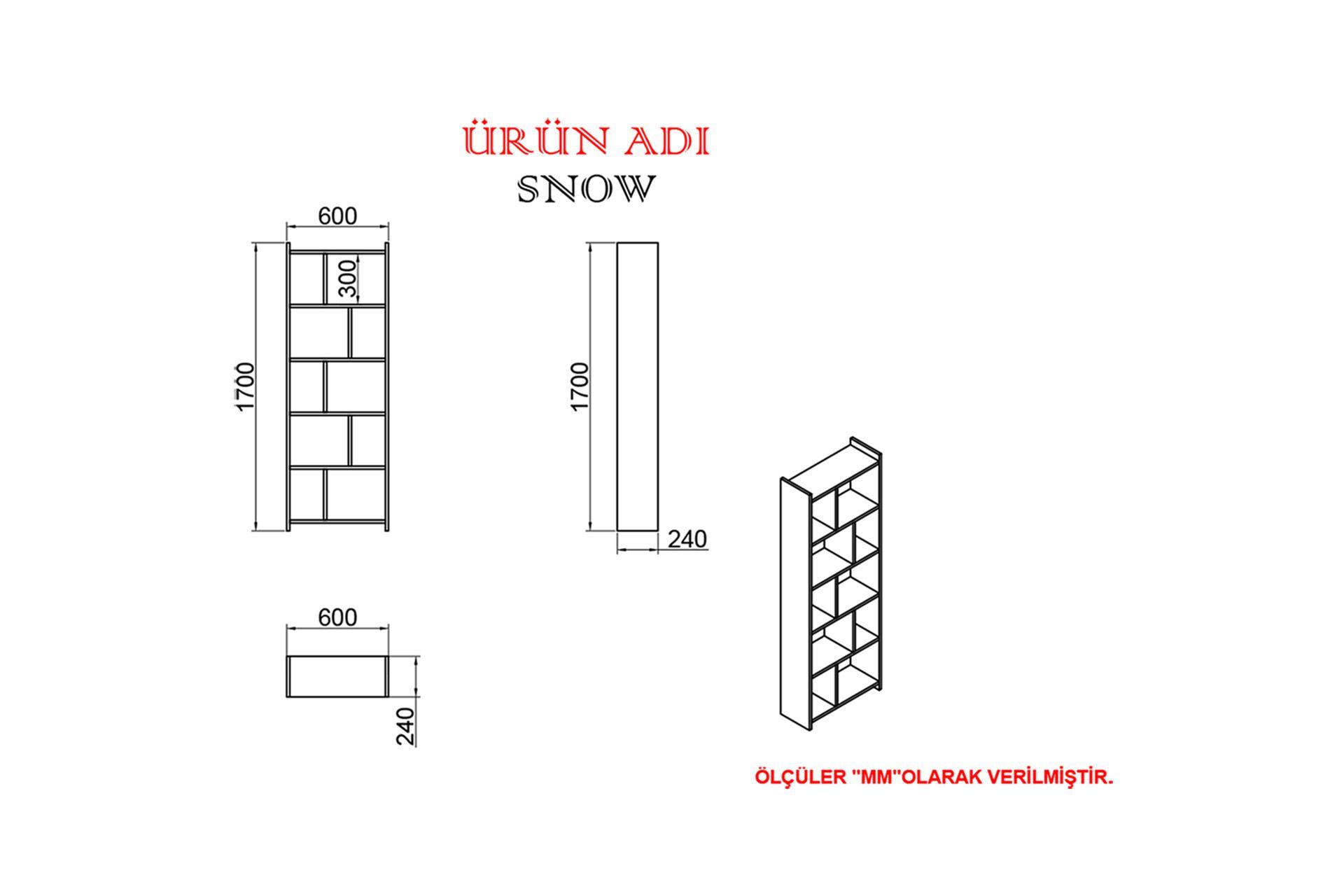 KALENDER DEKOR JİMMY SNOW 145 CM ÇALIŞMA MASASI TAKIMI JMS05