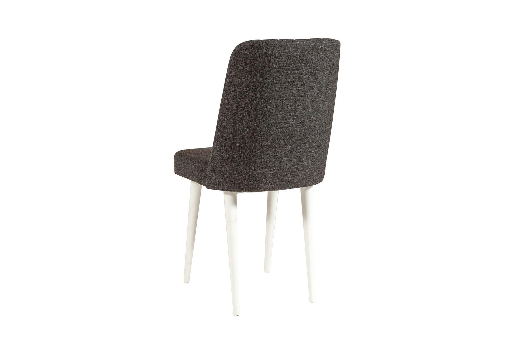 Vina Dining Chair, Dark Grey & White