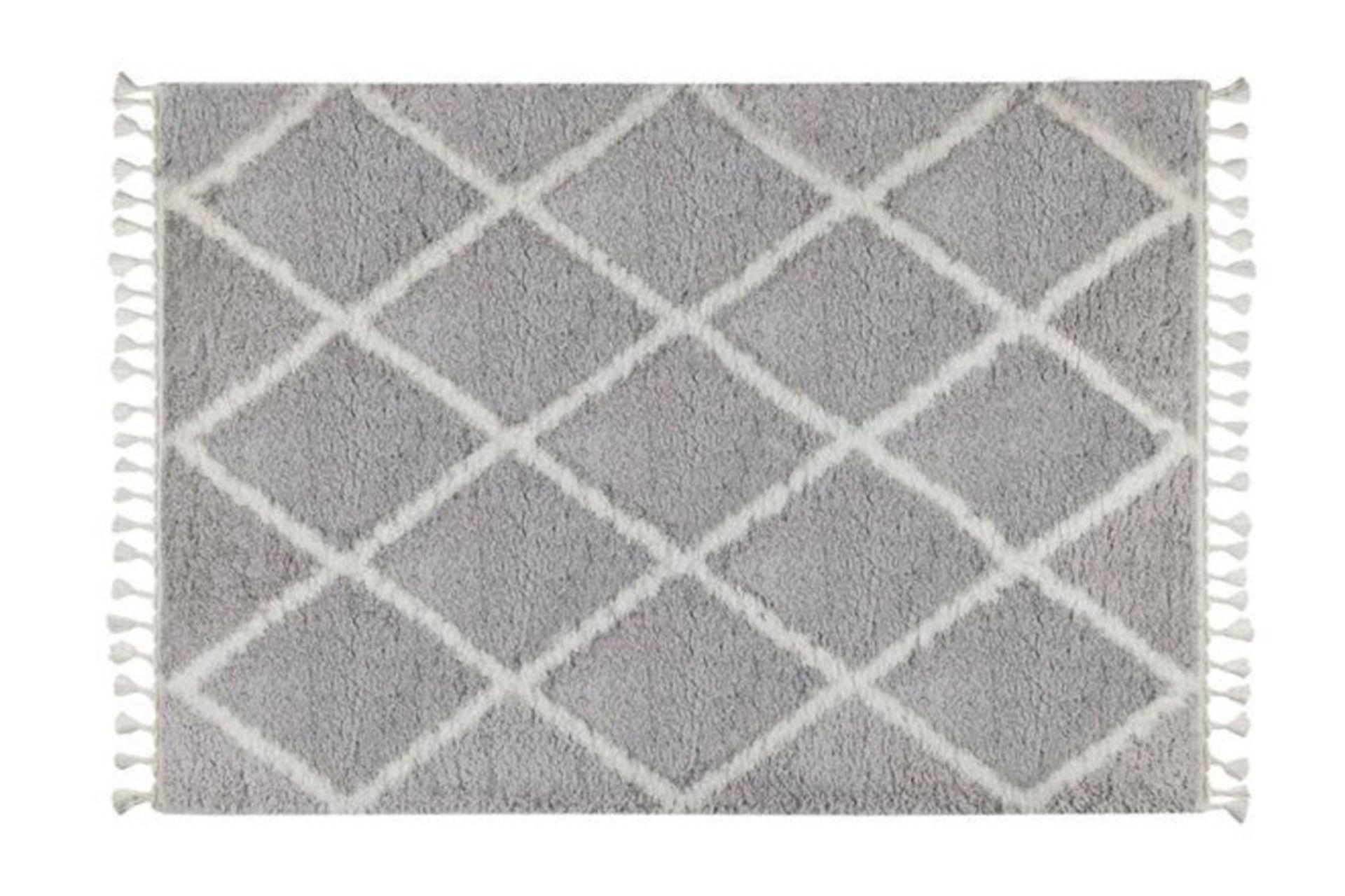 Marrakesh Line Rug, Grey & White (Small)