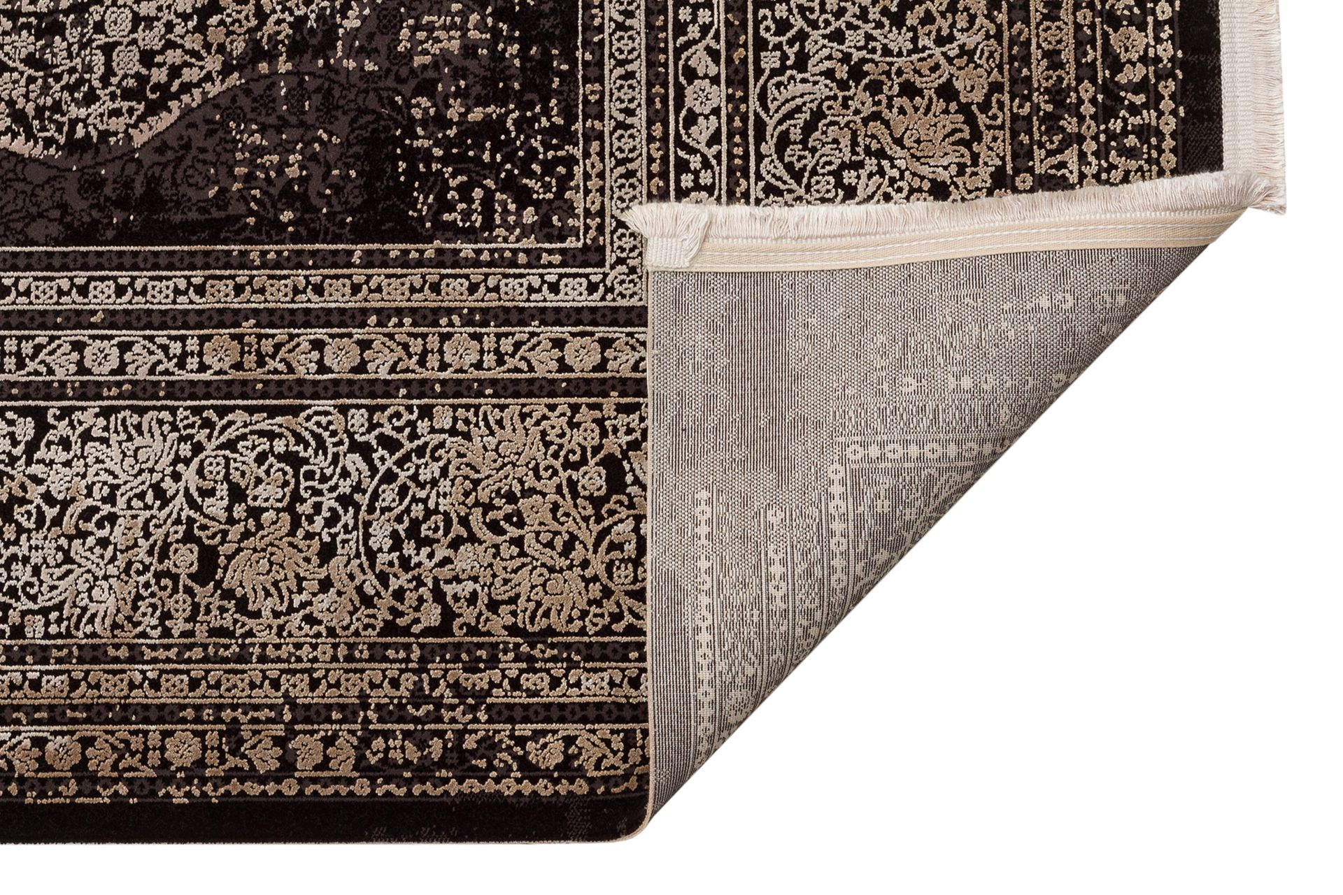 ANADOLU AD 01 ANTRASİT BEJ KLASİK DESENLİ SALON HALISI 200x290