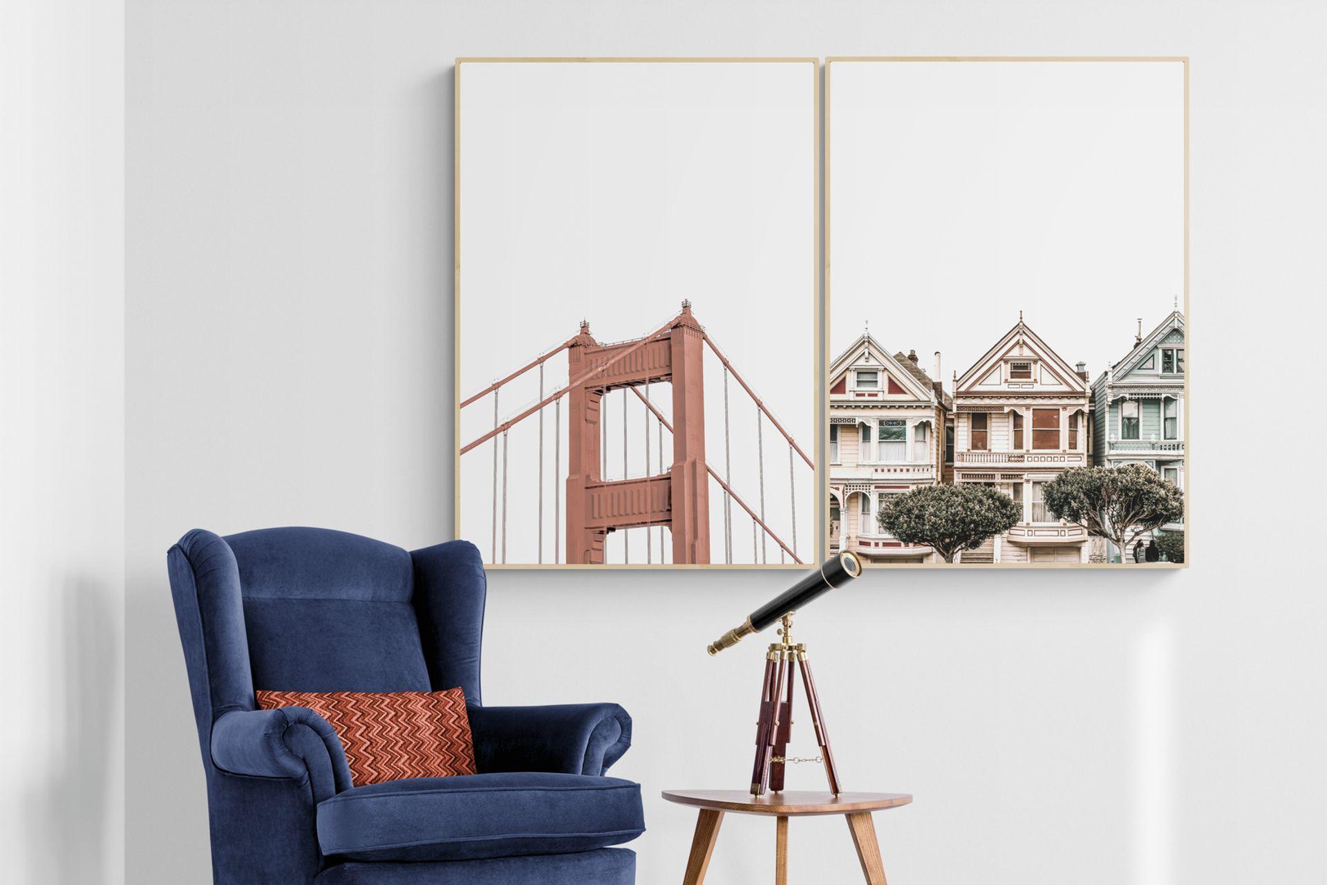 SAN FRANCISCO HOME NATURAL ÇERÇEVE TABLO 33X48