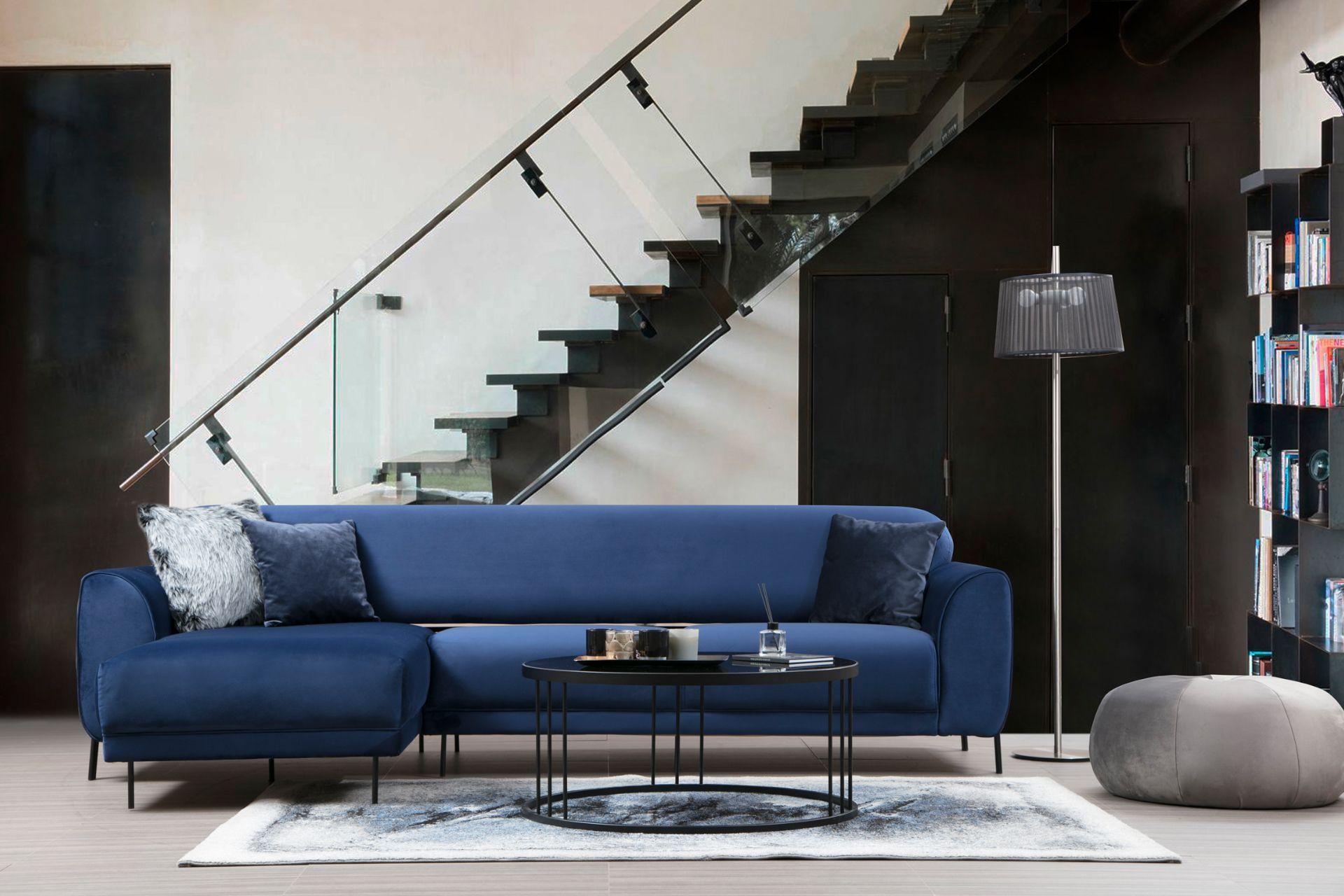 Cloud Corner Chaise Sofa Bed, Left, Blue