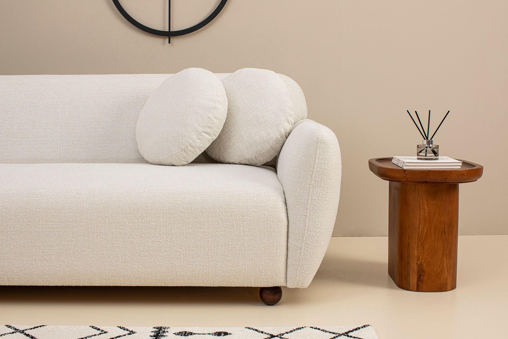 Eddy Three Seater Sofa, Ecru