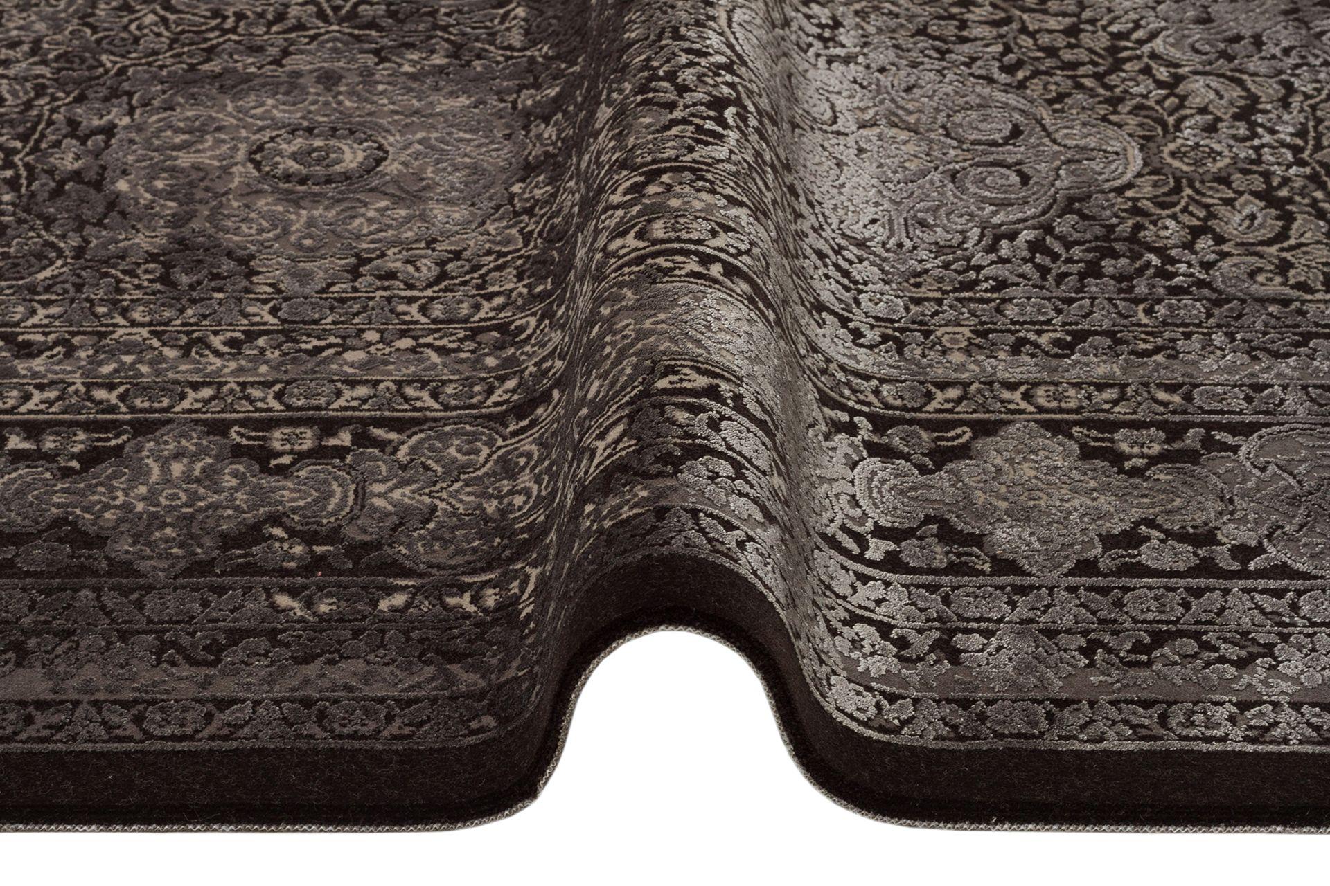 ANADOLU AD 02 ANTRASİT GRİ KLASİK DESENLİ SALON HALISI 100x200