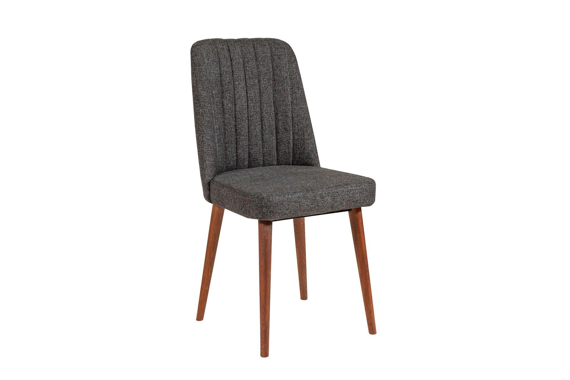 Vina Dining Chair, Dark Grey & Walnut