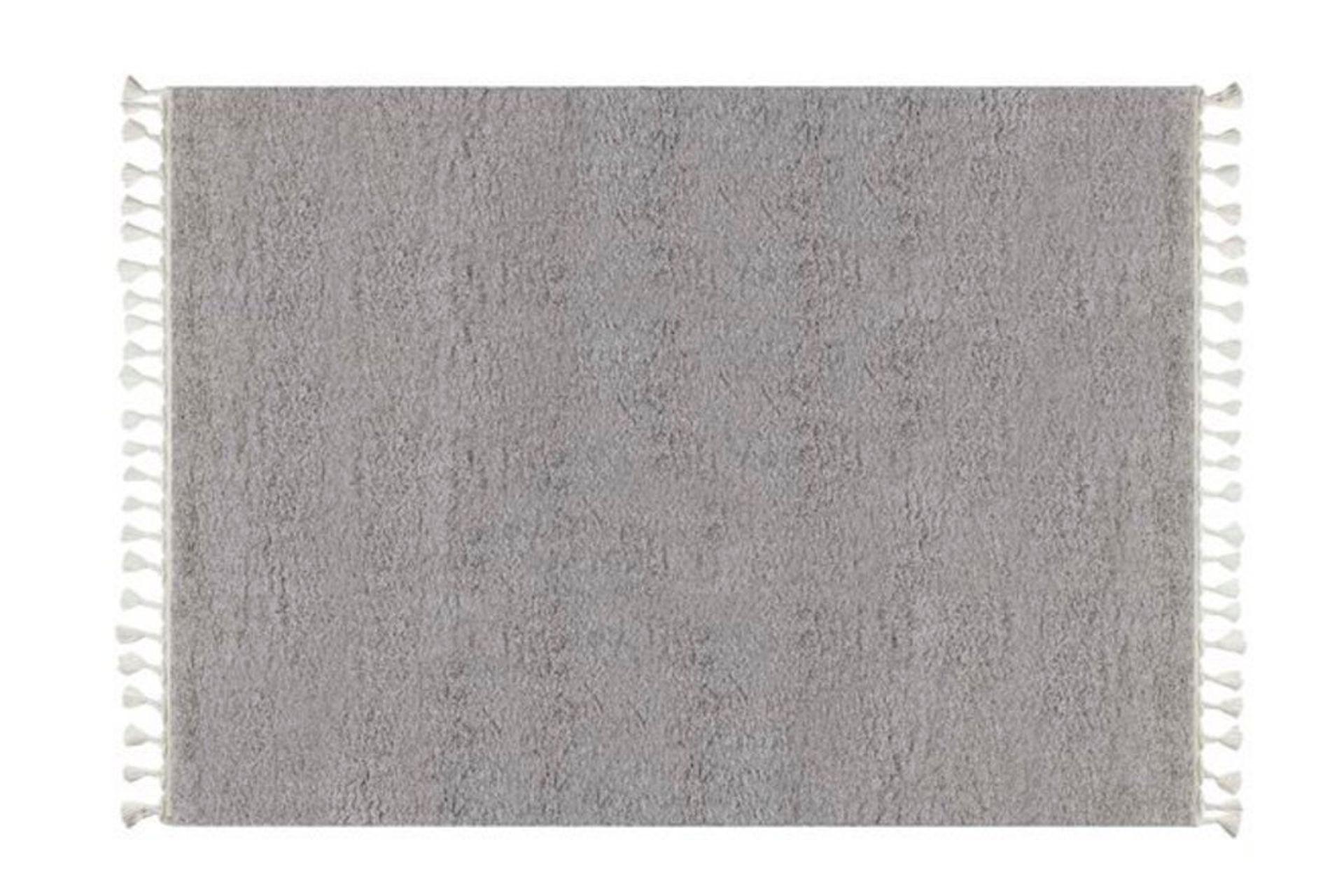 Marrakesh Shaggy Rug, Grey (Small)