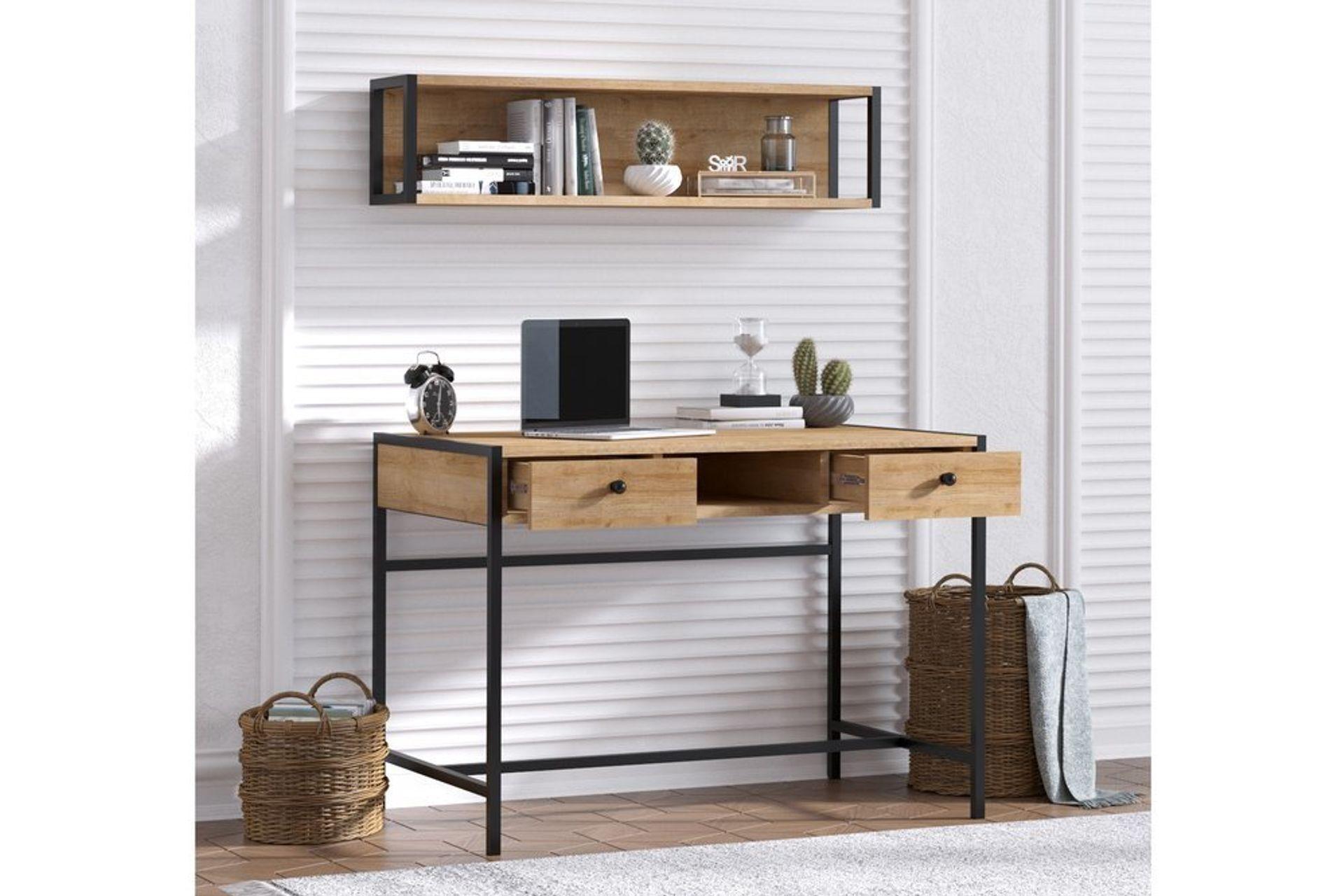 Freya Study Desk with Storage