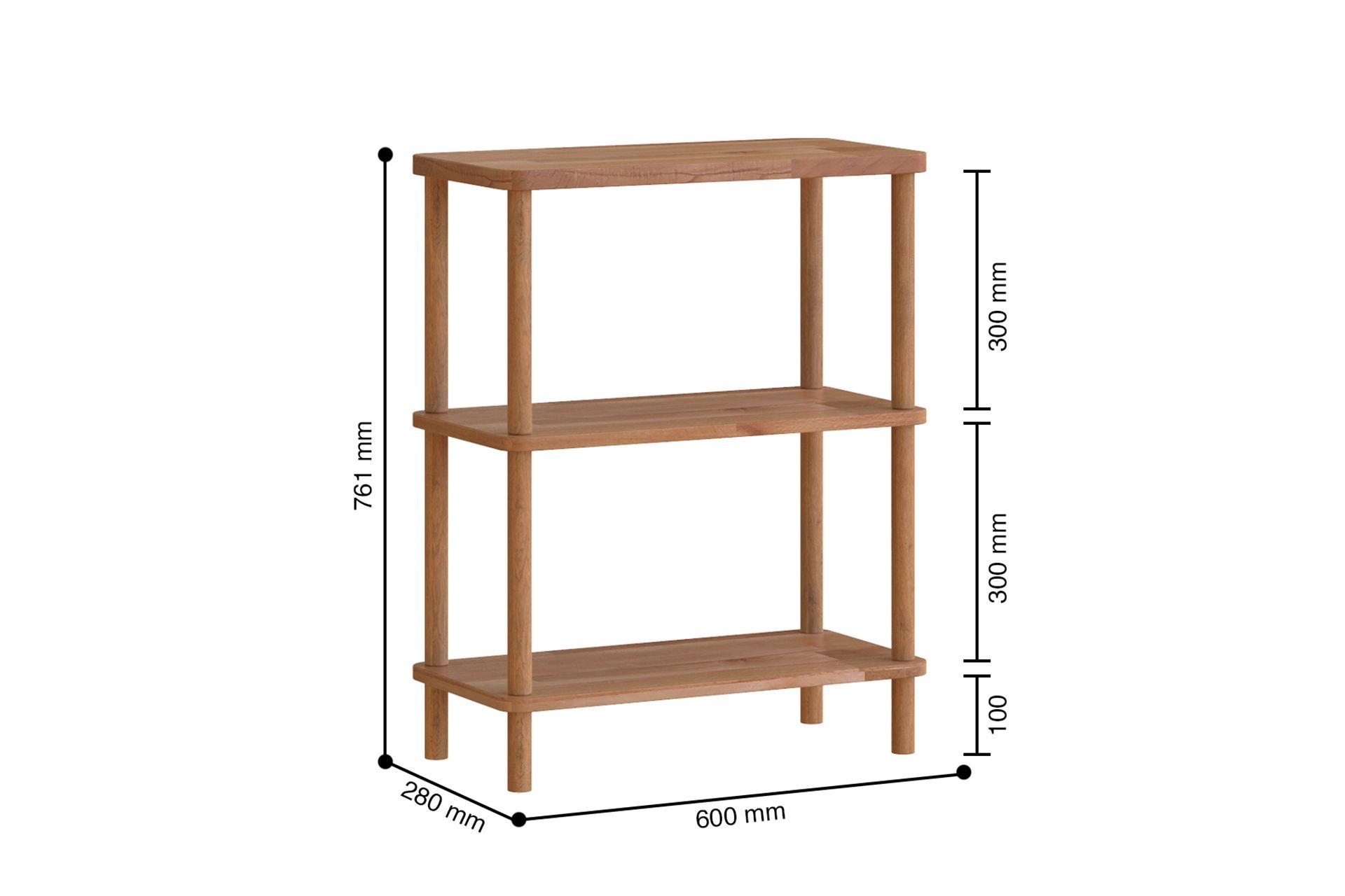 Maya Low Bookcase, (Standard)