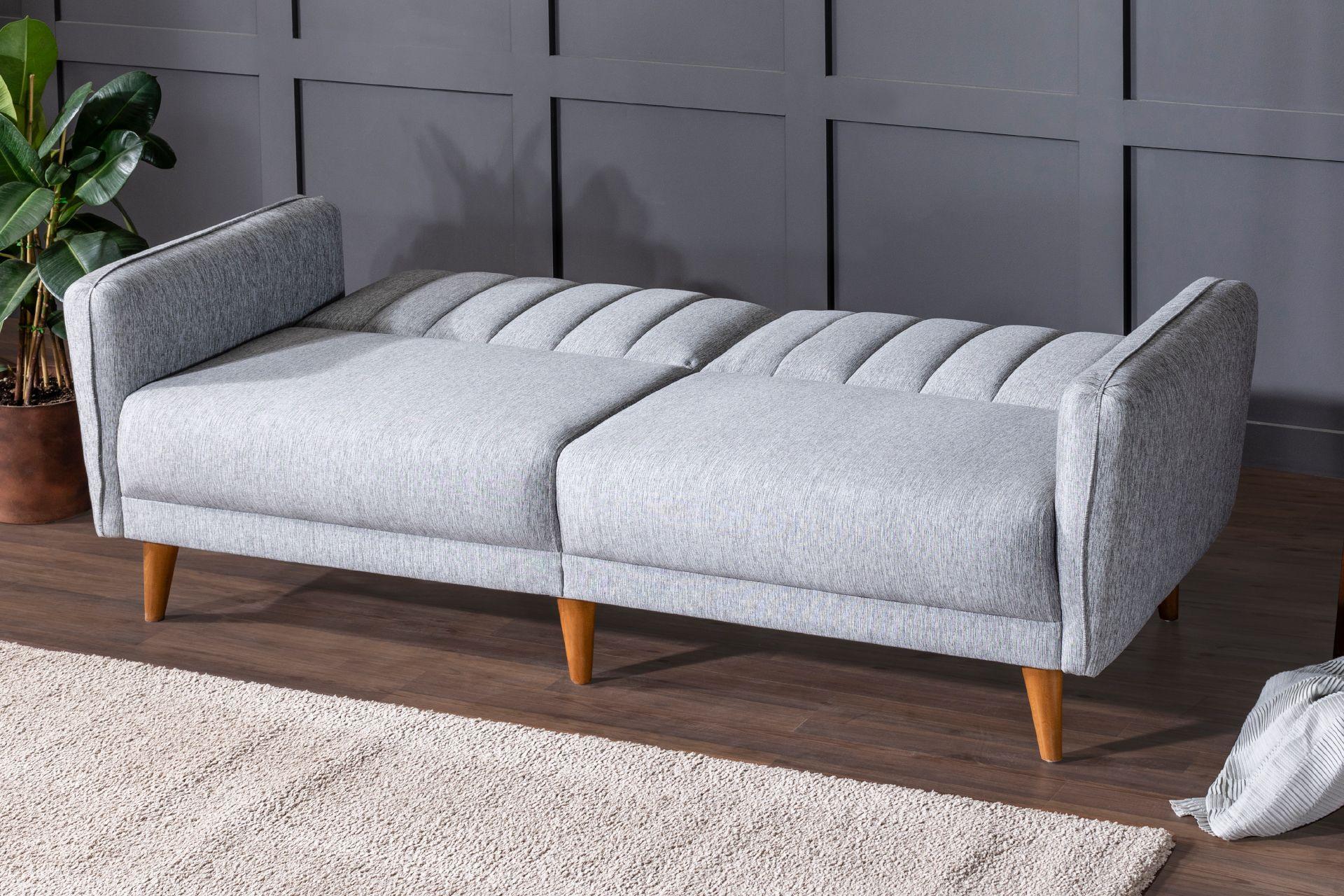 Aqua Three Seater Sofa Bed, Grey