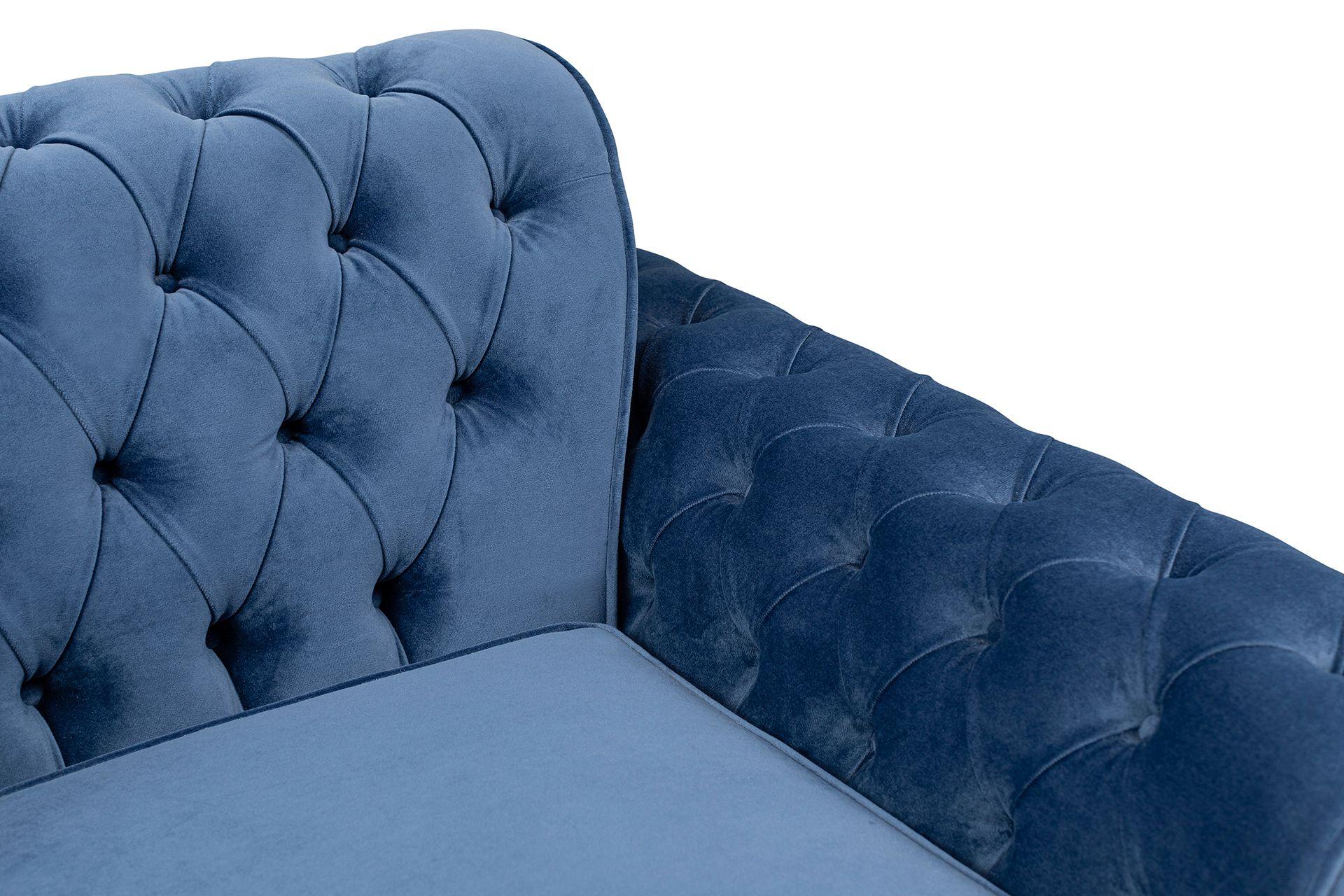Nepal Three Seater Sofa, Dark Blue