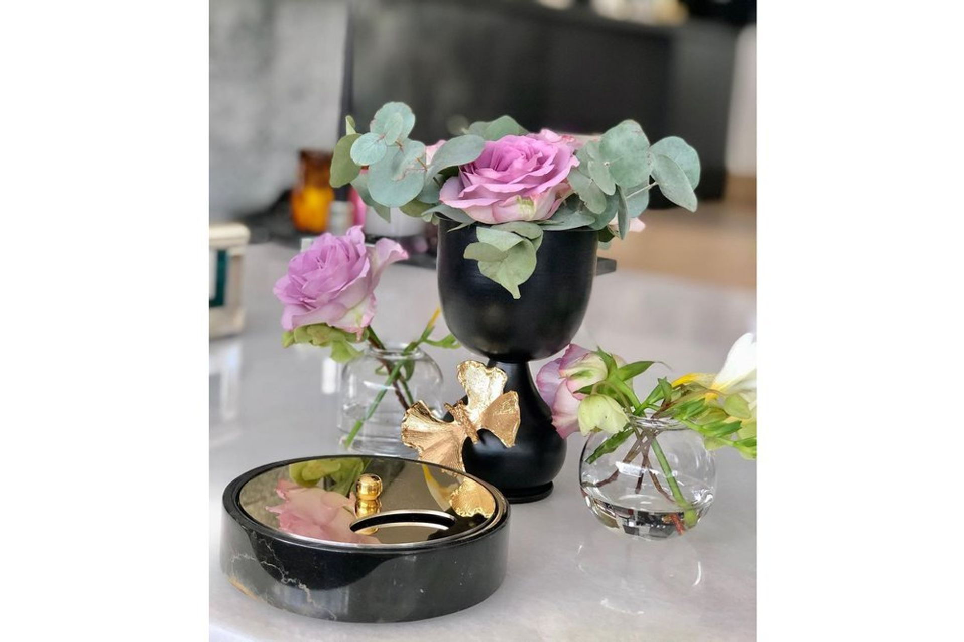 Butterfly Candle Holder, Gold (Large)