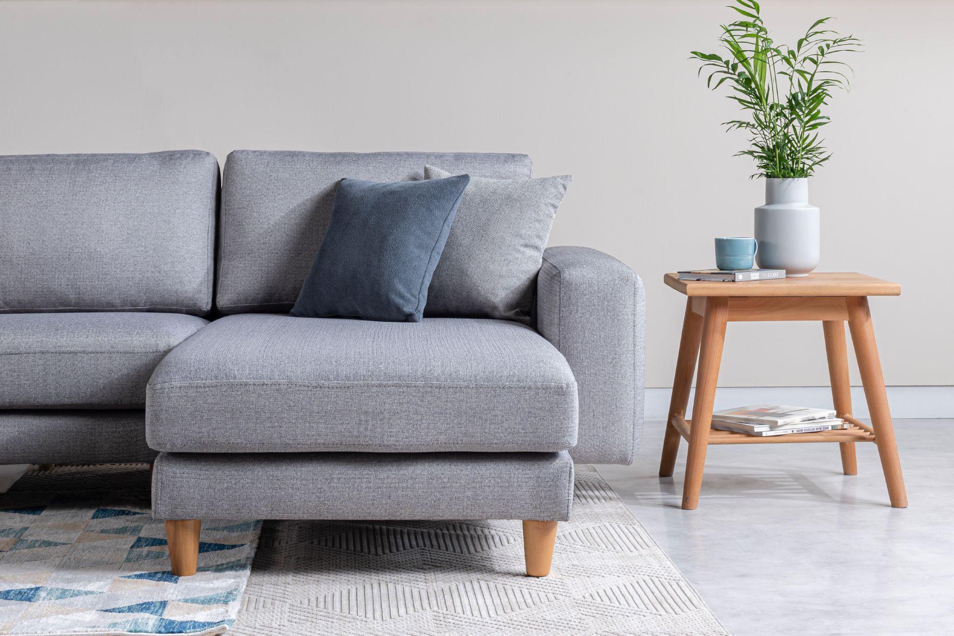 Merlin Corner Sofa, Grey (Right)