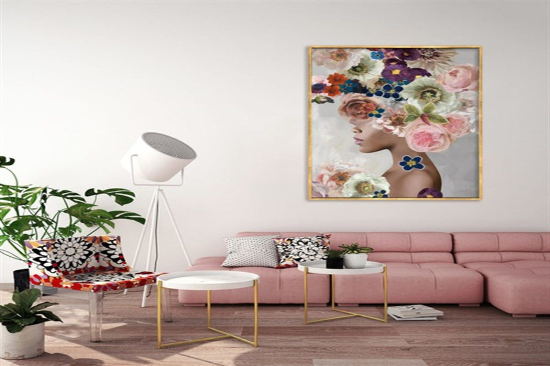 TABLOLİFE WOMEN IN FLOWERS 2 YAĞLI BOYA DOKULU TABLO  75X100 CM