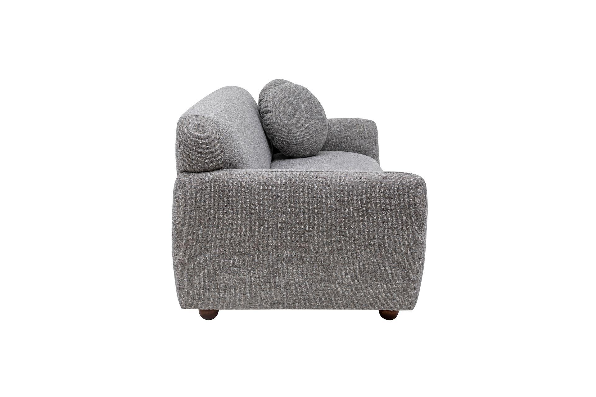 Eddy Three Seater Sofa, Light Grey