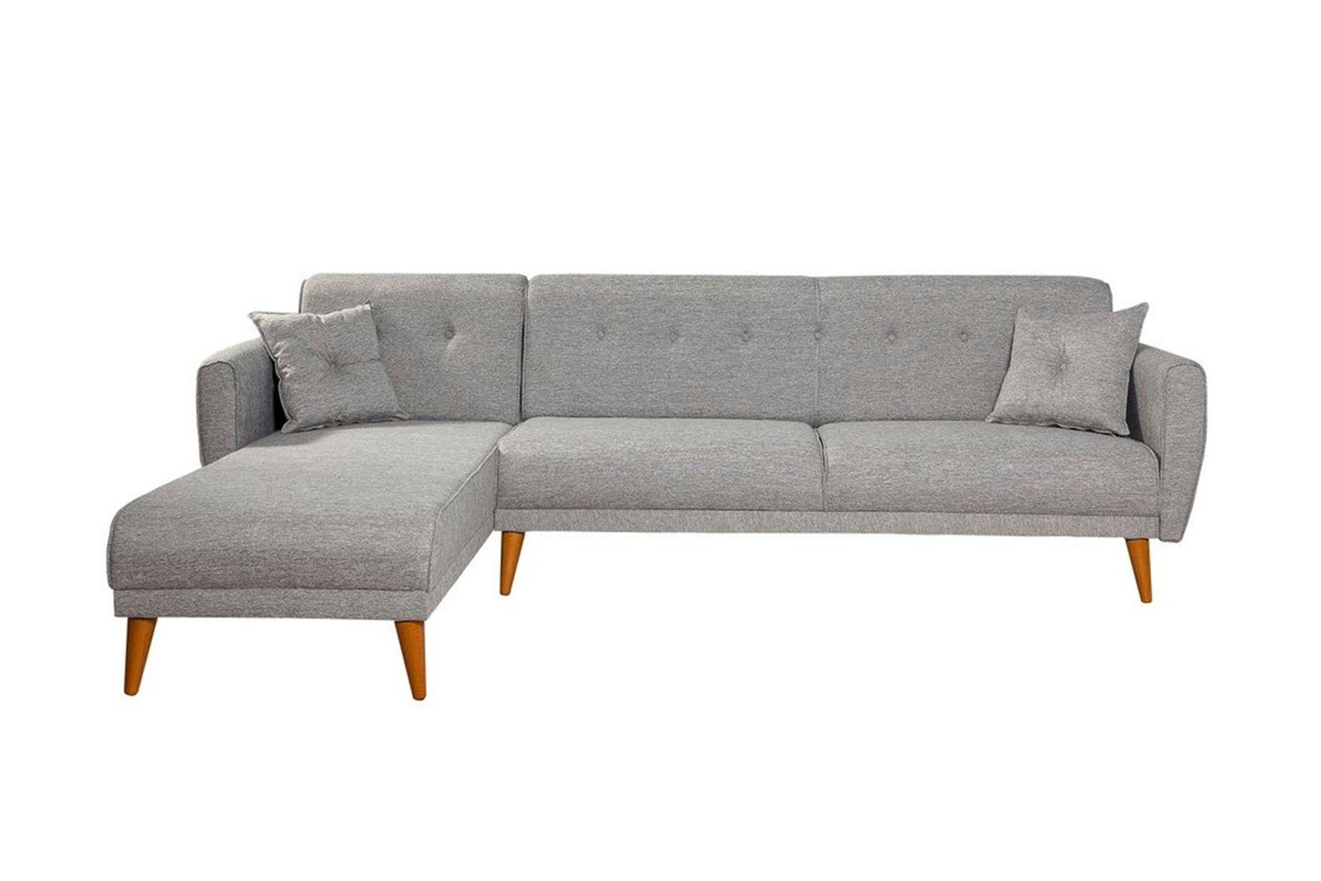 Aria Corner Sofa Bed, Grey (Left)