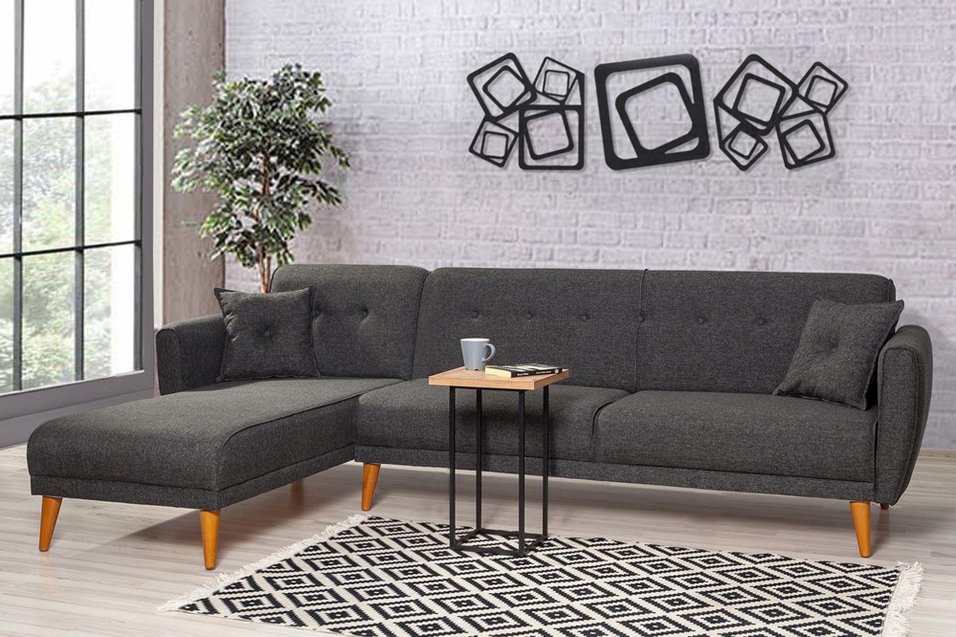 Aria Corner Sofa Bed, Anthracite Grey (Left)