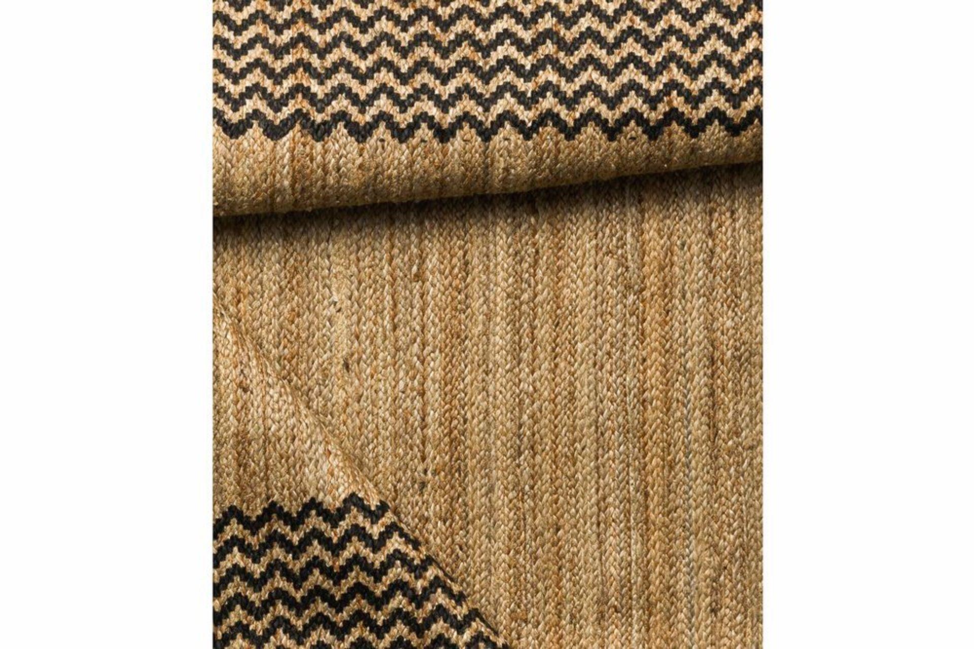 Rosa Block Print Jute rug, 90 x 150, Natural