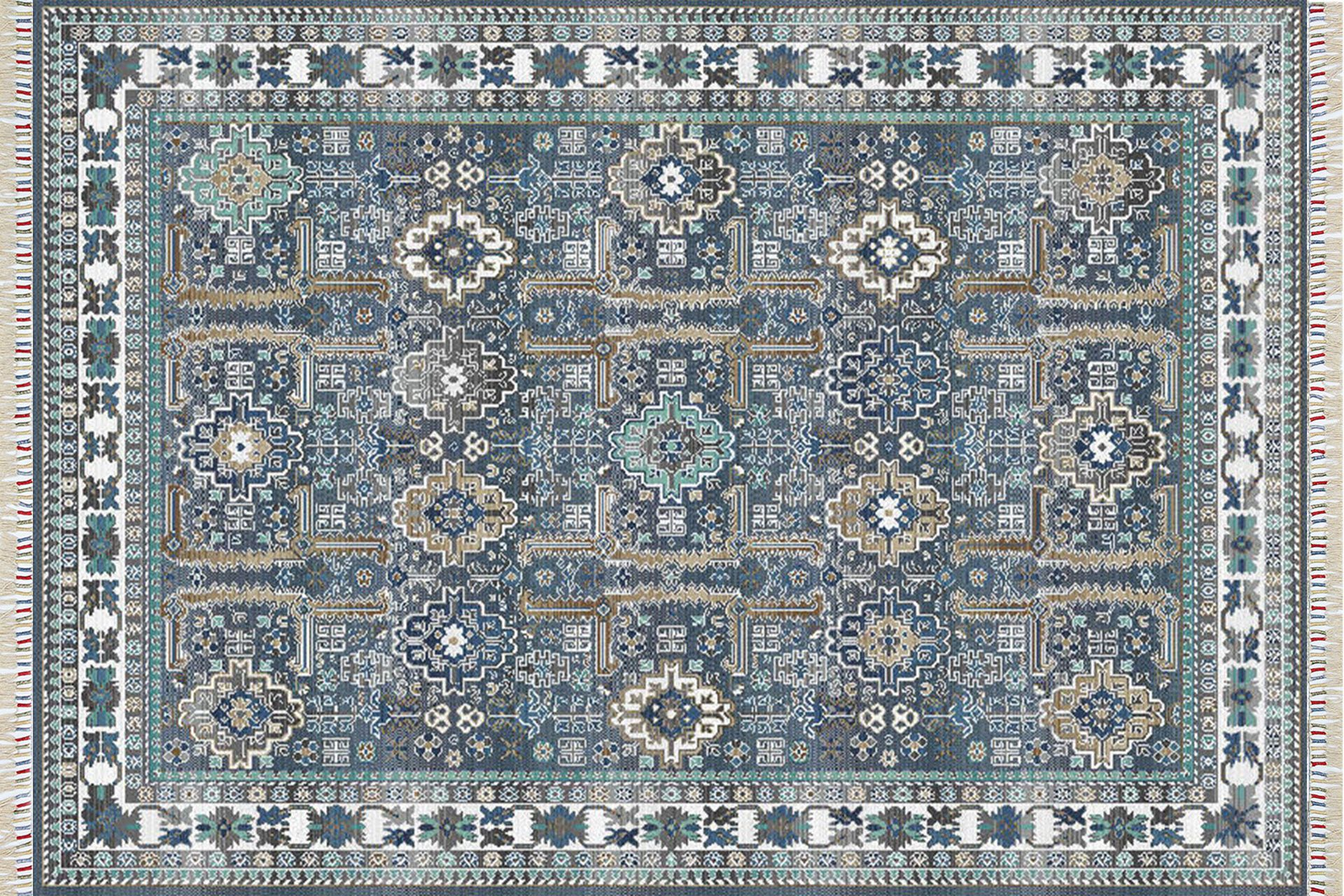 PARMA PRM 07 BLUE ETNİK YIKANABİLİR HALI 80x150