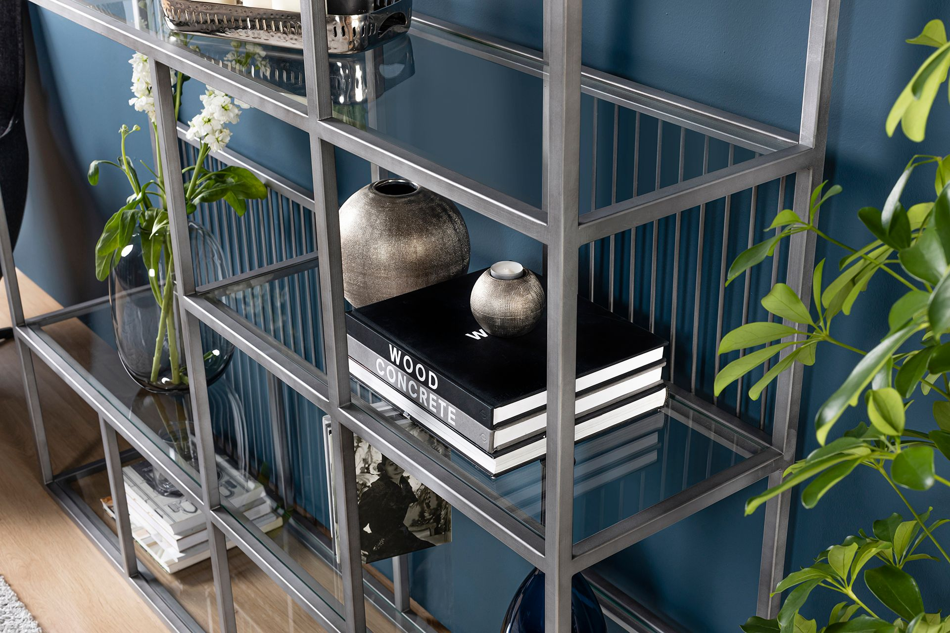 Lola Chrome Bookcase