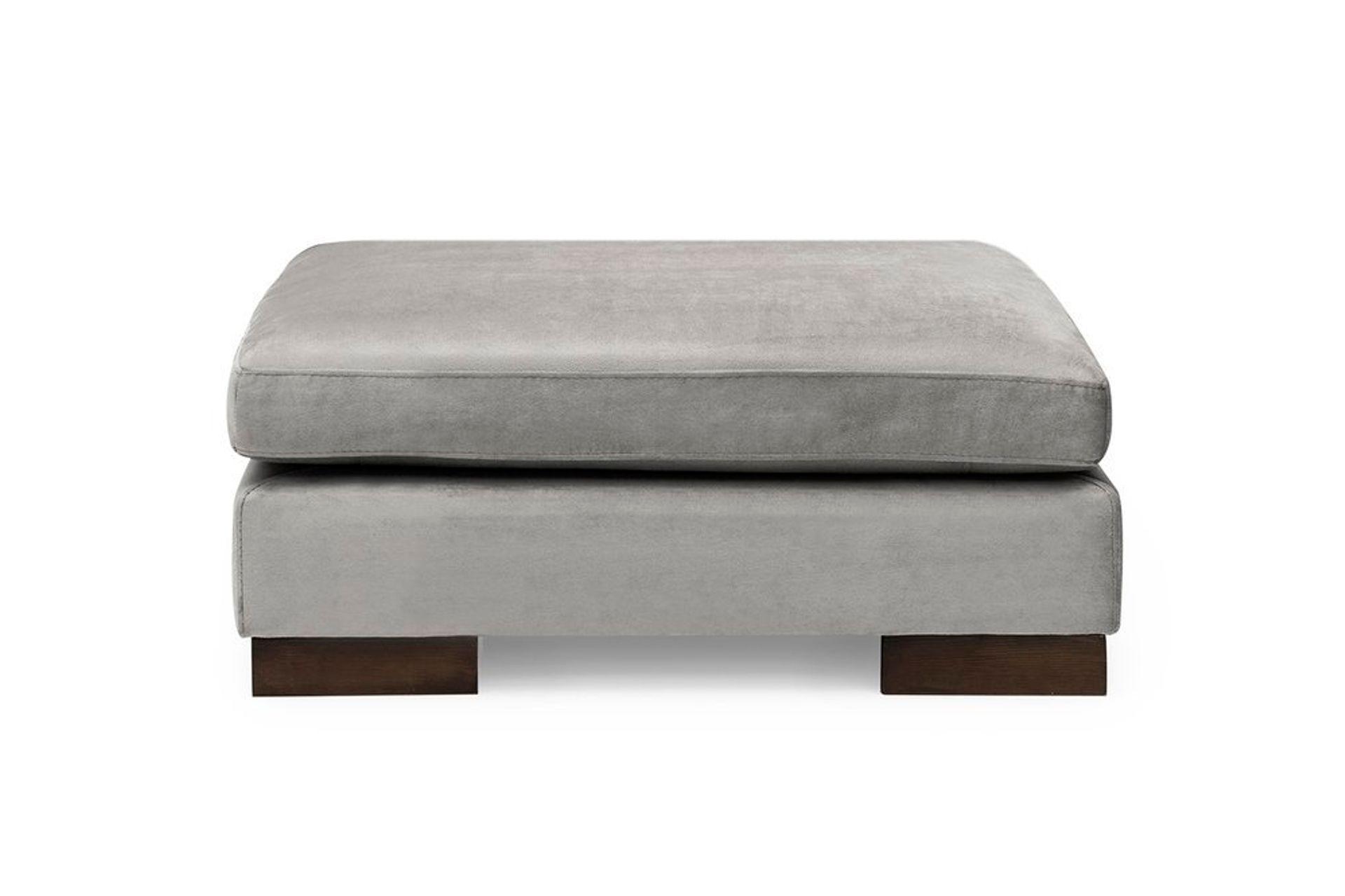 Tulip Footstool, Grey