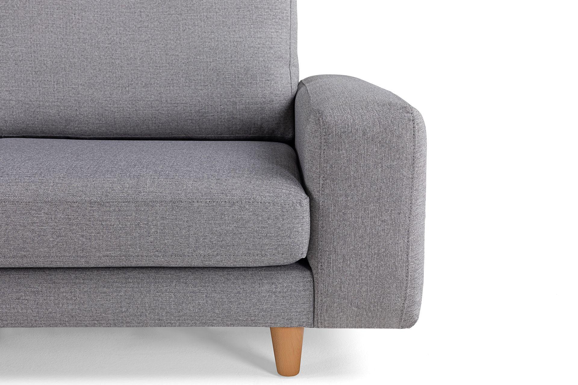 Merlin Corner Chaise Sofa, Left, Grey