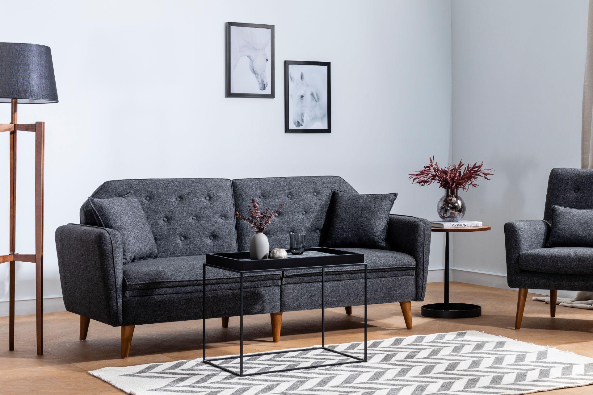 Terra Three Seater Sofa Bed, Anthracite Grey