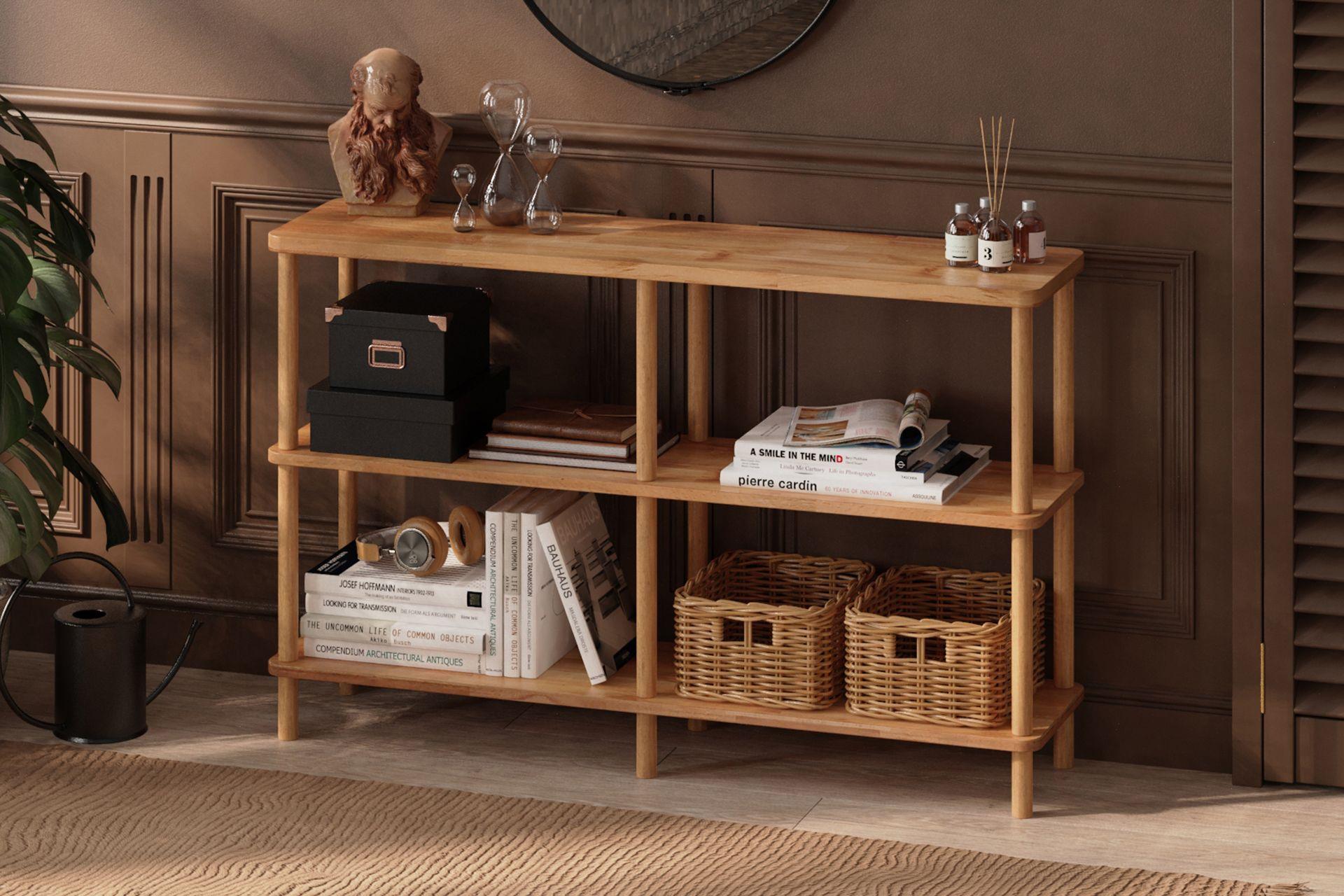 Maya Double Bookcase, (Standard)