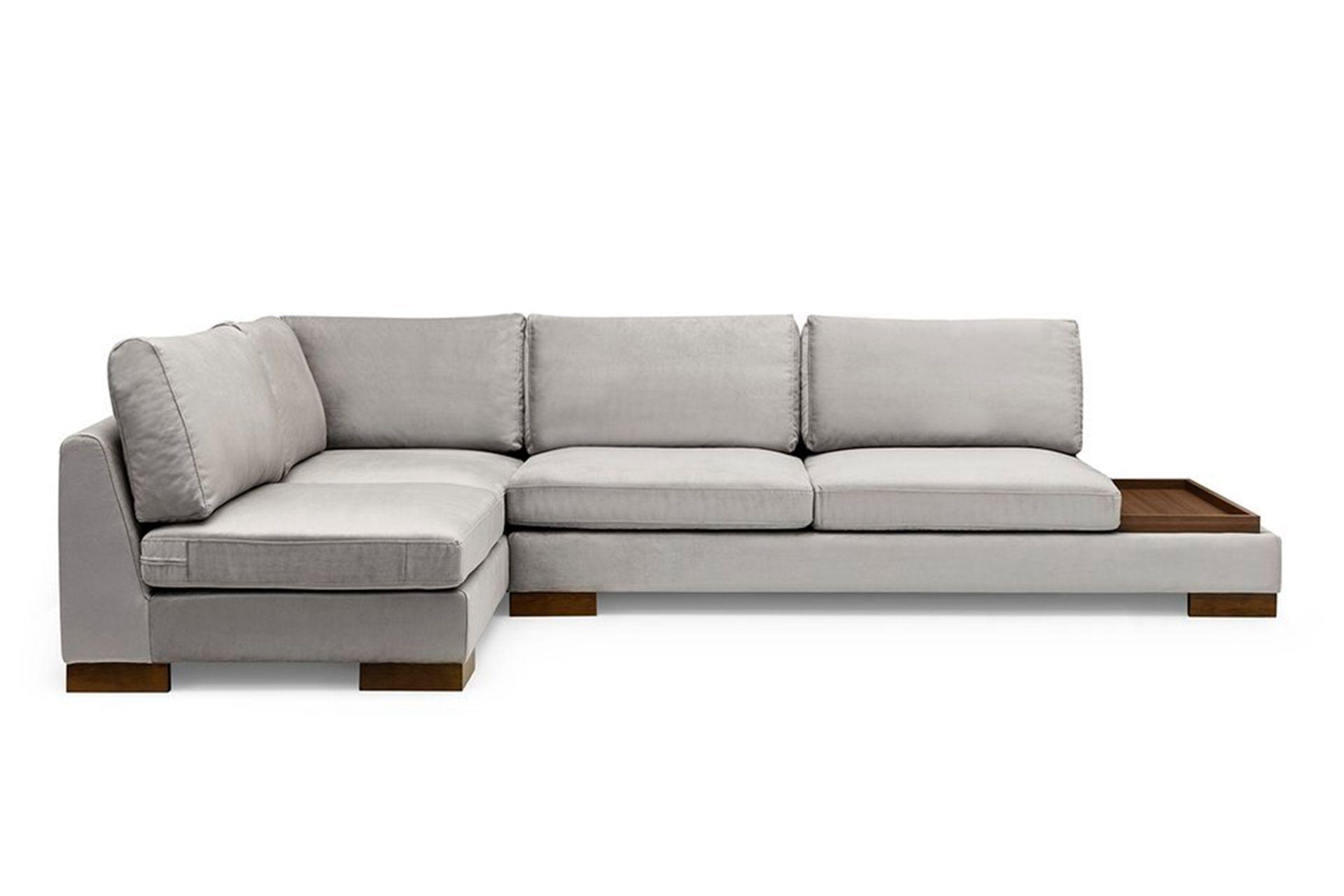 Tulip Corner Sofa, Grey (Left)