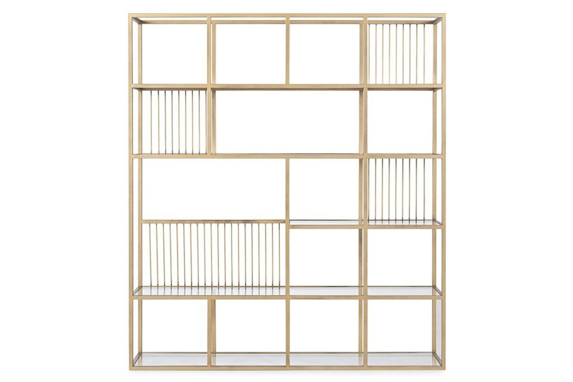 Lola Wide Bookcase, Brass