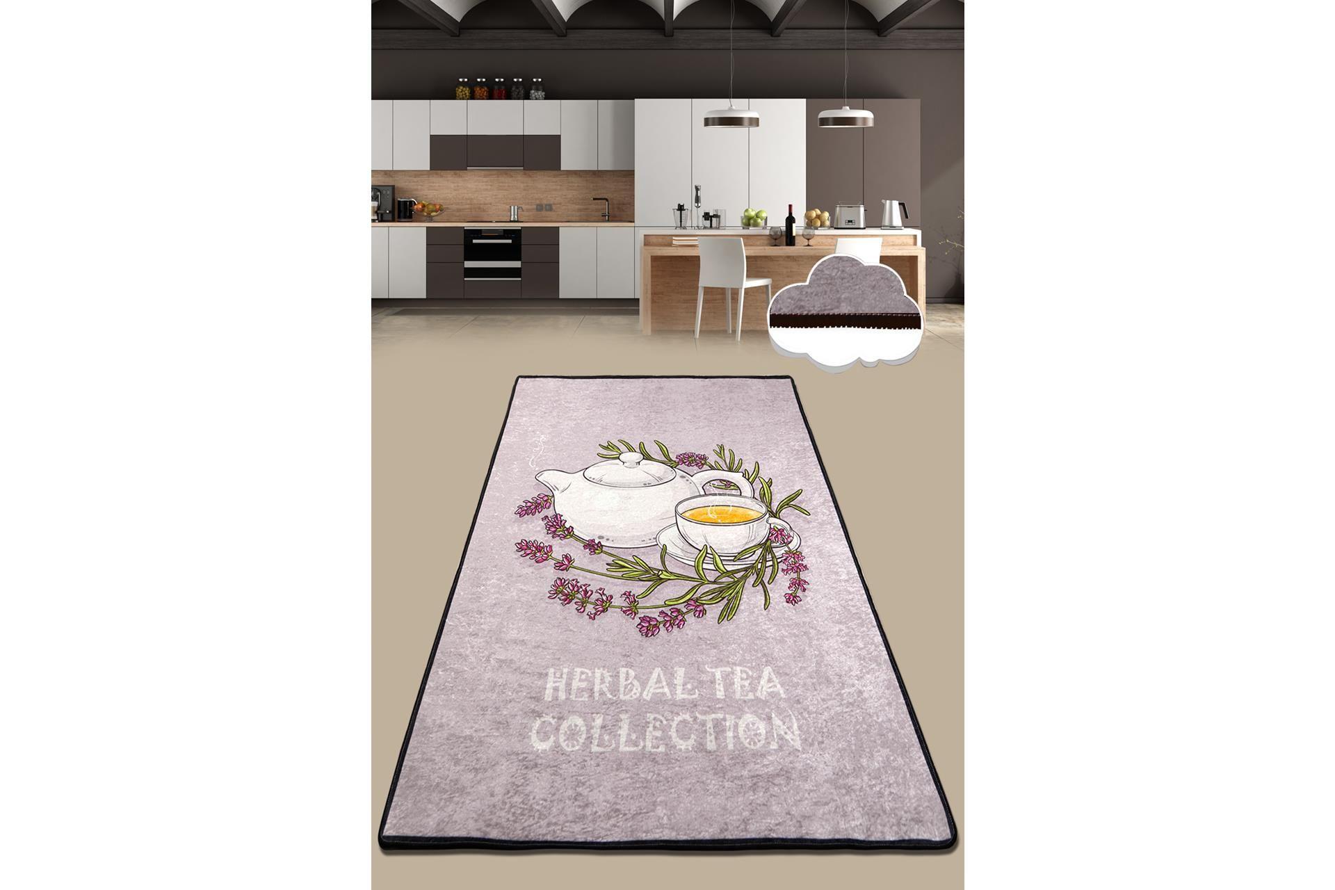 Tea Time 150X240 cm MUTFAK HALISI YIKANABİLİR