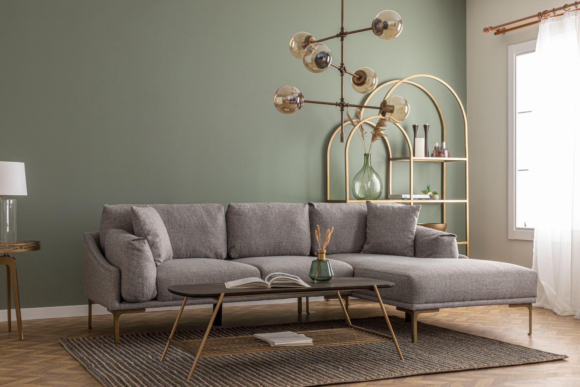 Leo Corner Chaise Sofa, Right, Grey