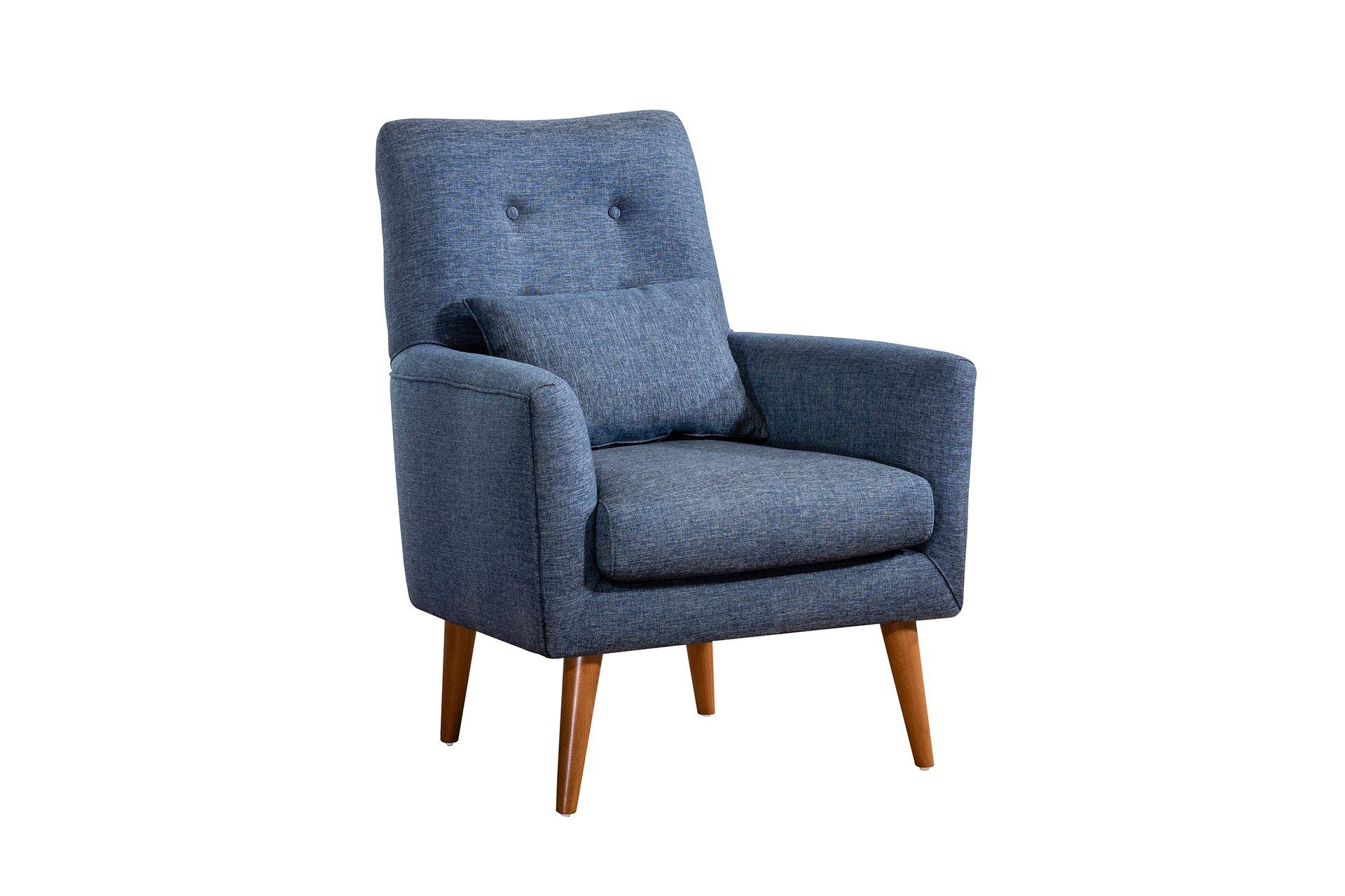 Zeni Armchair, Navy Blue