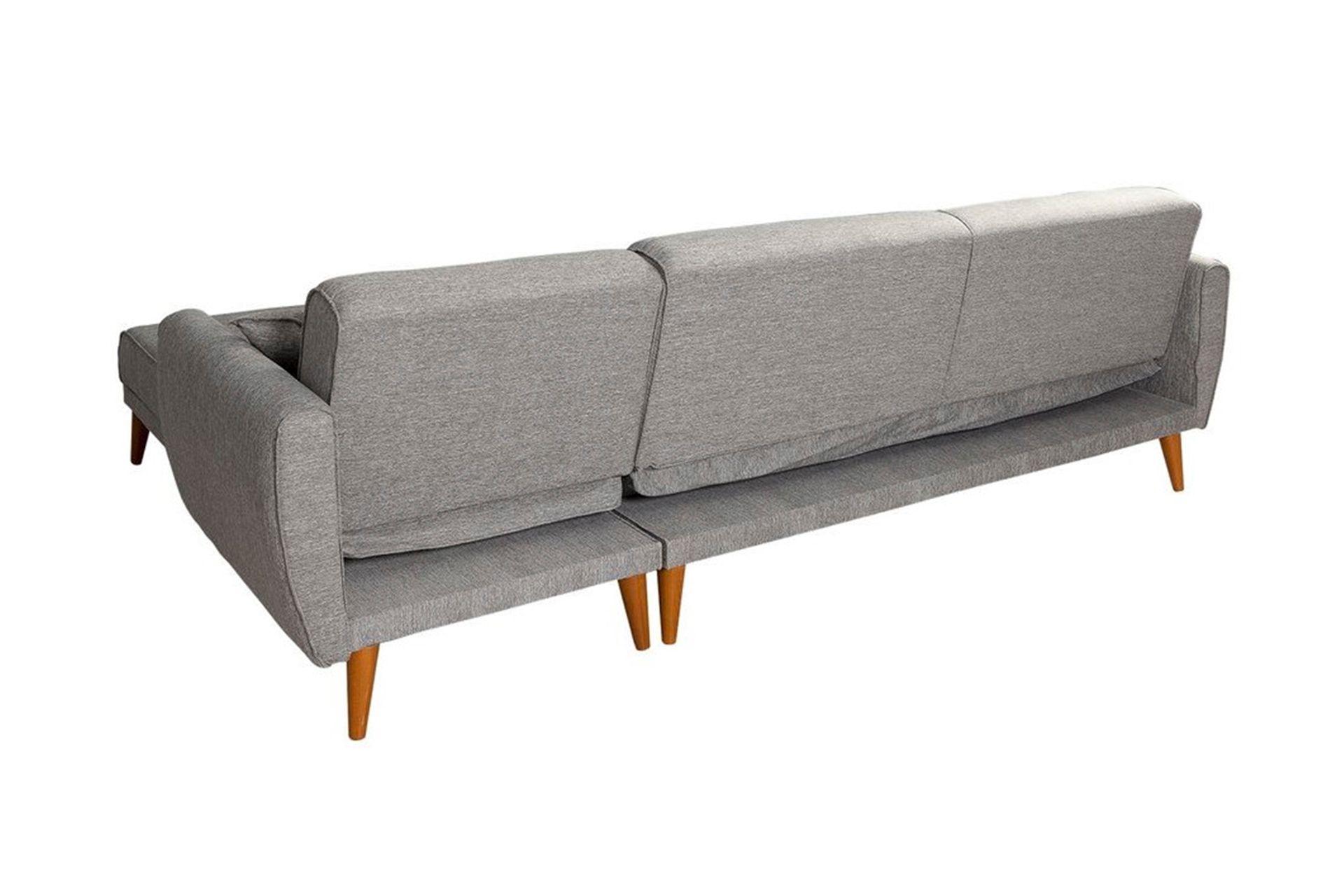 Aria Corner Sofa Bed, Grey (Right)