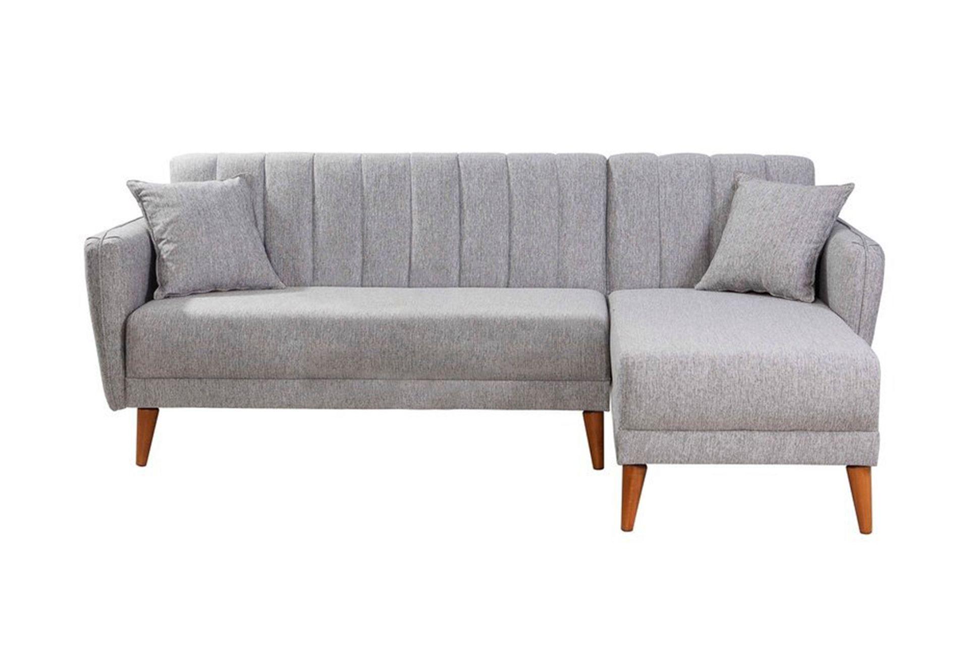 Aqua Corner Sofa Bed, Grey (Right)