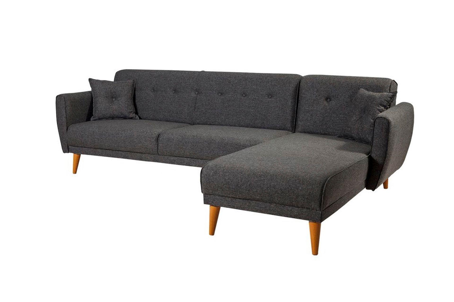 Aria Corner Sofa Bed, Anthracite Grey (Right)