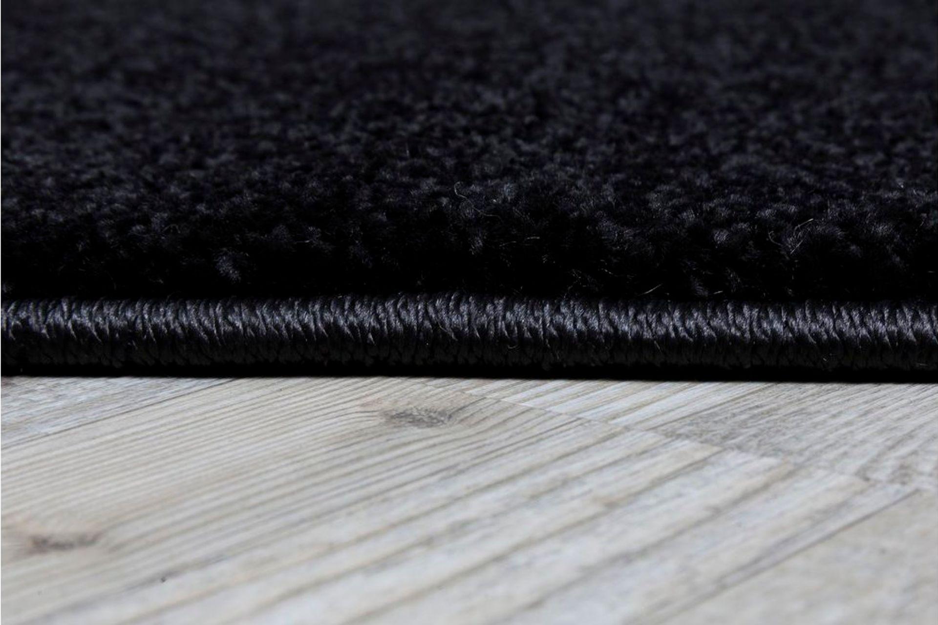 Essence Minimalist Woven Rug, 200 x 290, Black