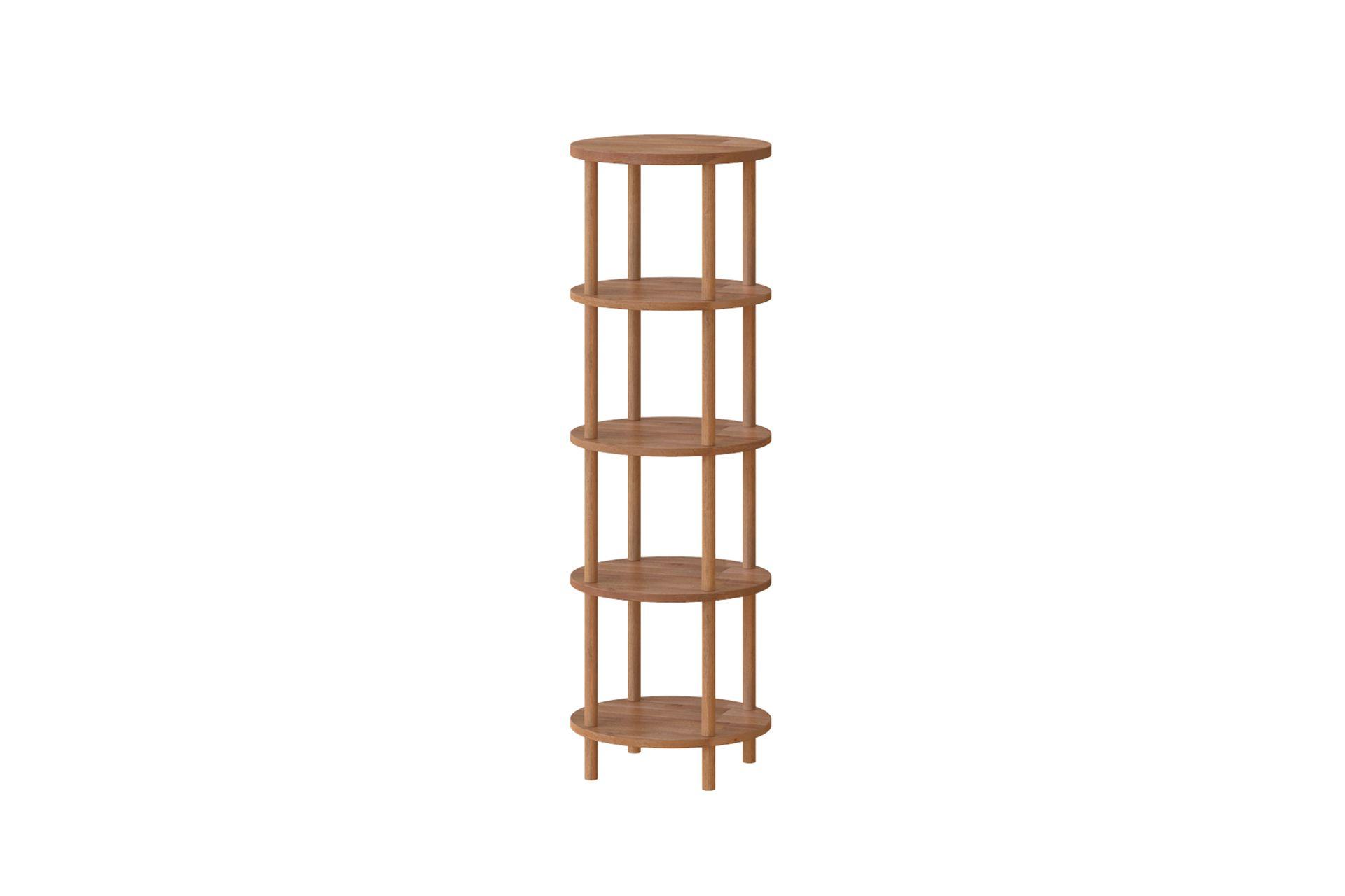 Maya Round Bookcase, (5 Shelf)